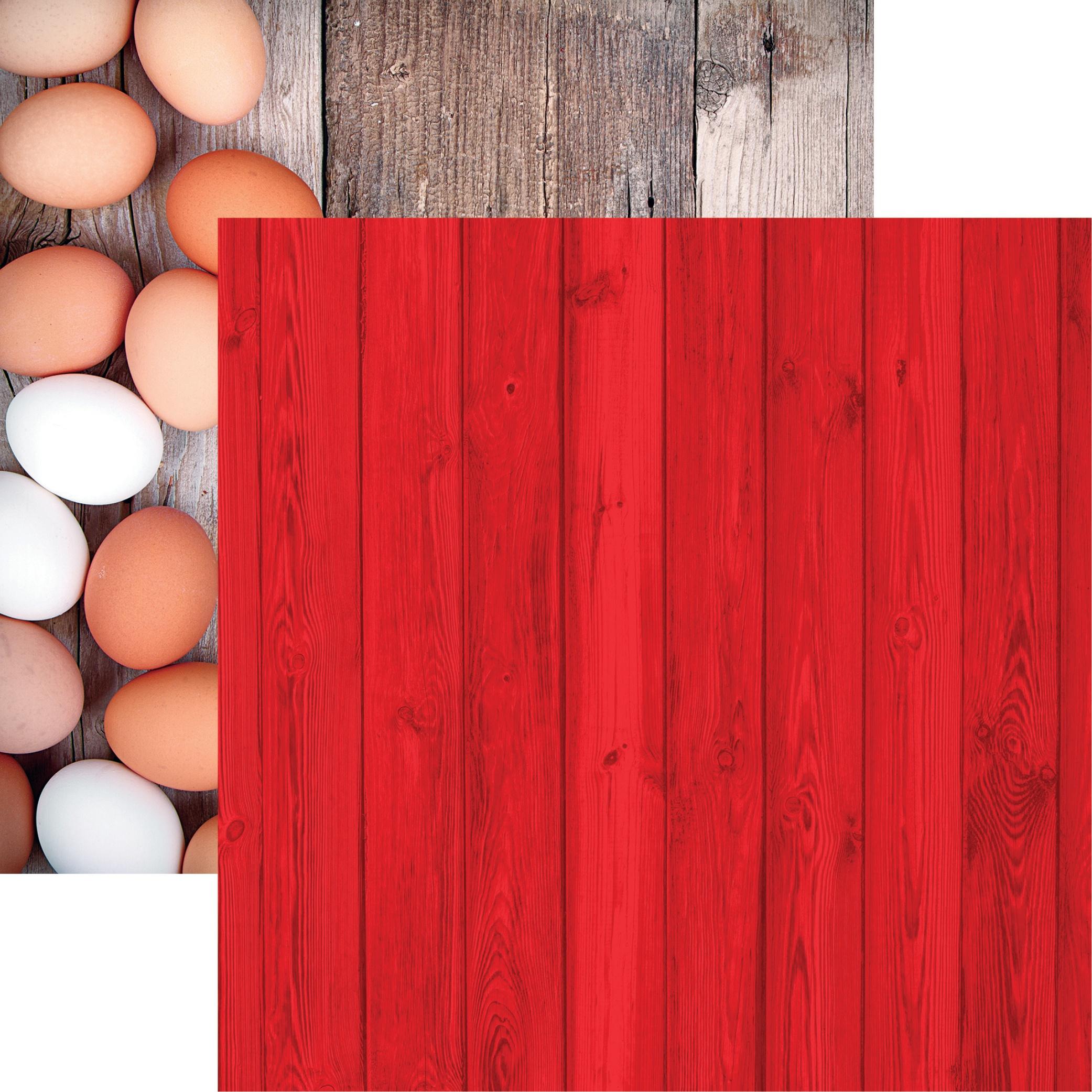 Farm Fresh Double-Sided Cardstock 12X12-Big Red Barn
