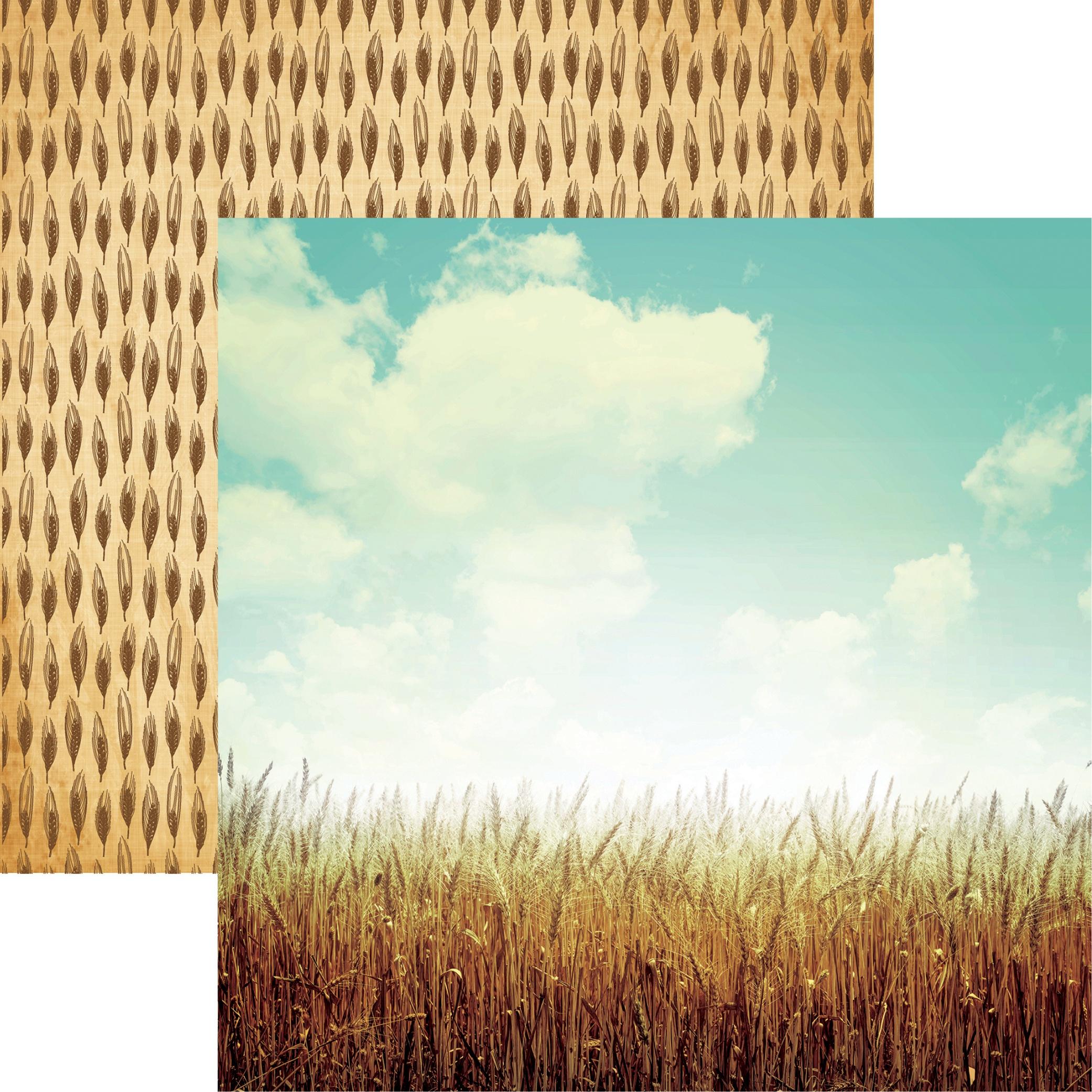 Farm Fresh Double-Sided Cardstock 12X12-Wheat Fields