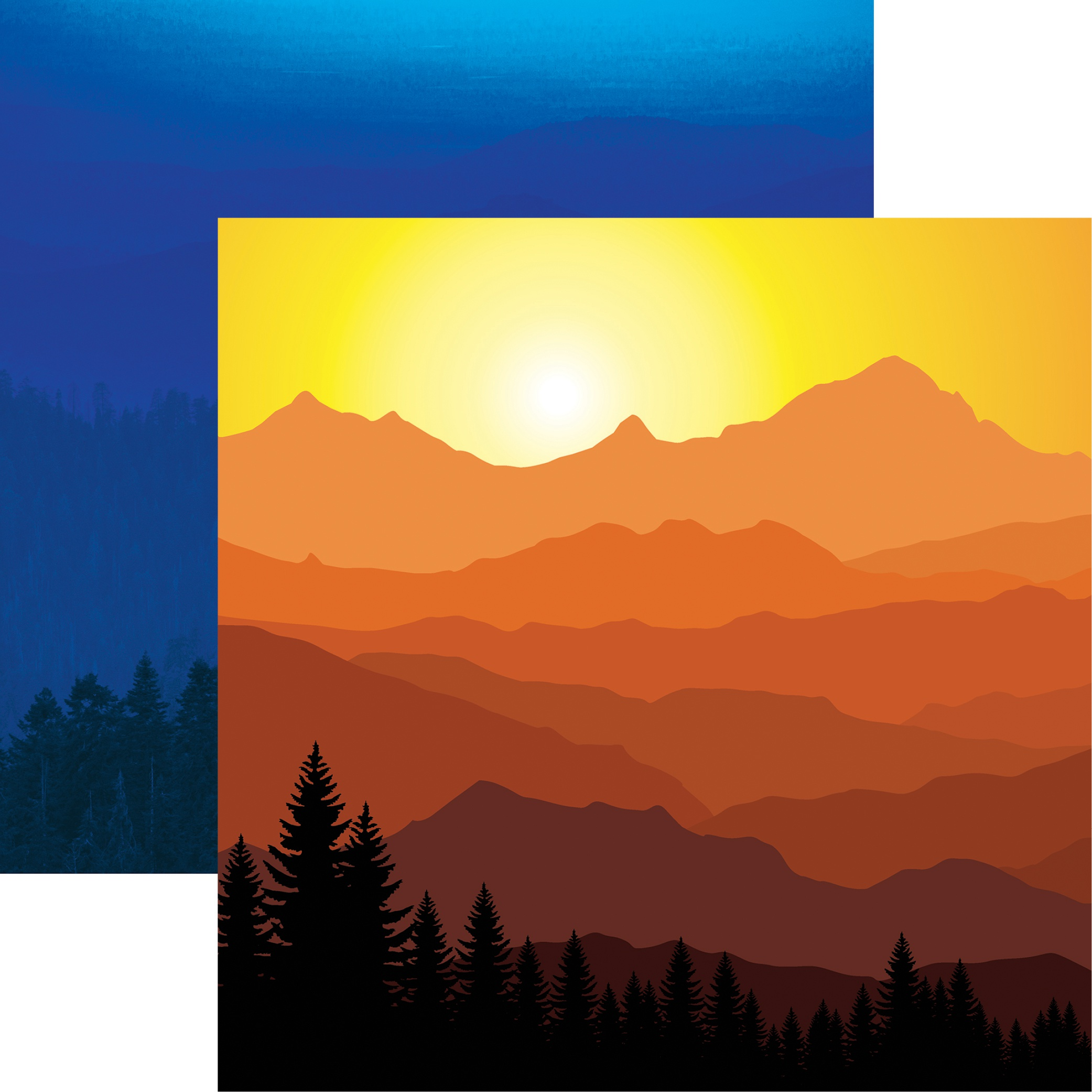 Scenic View Double-Sided Cardstock 12X12-Day Or Night