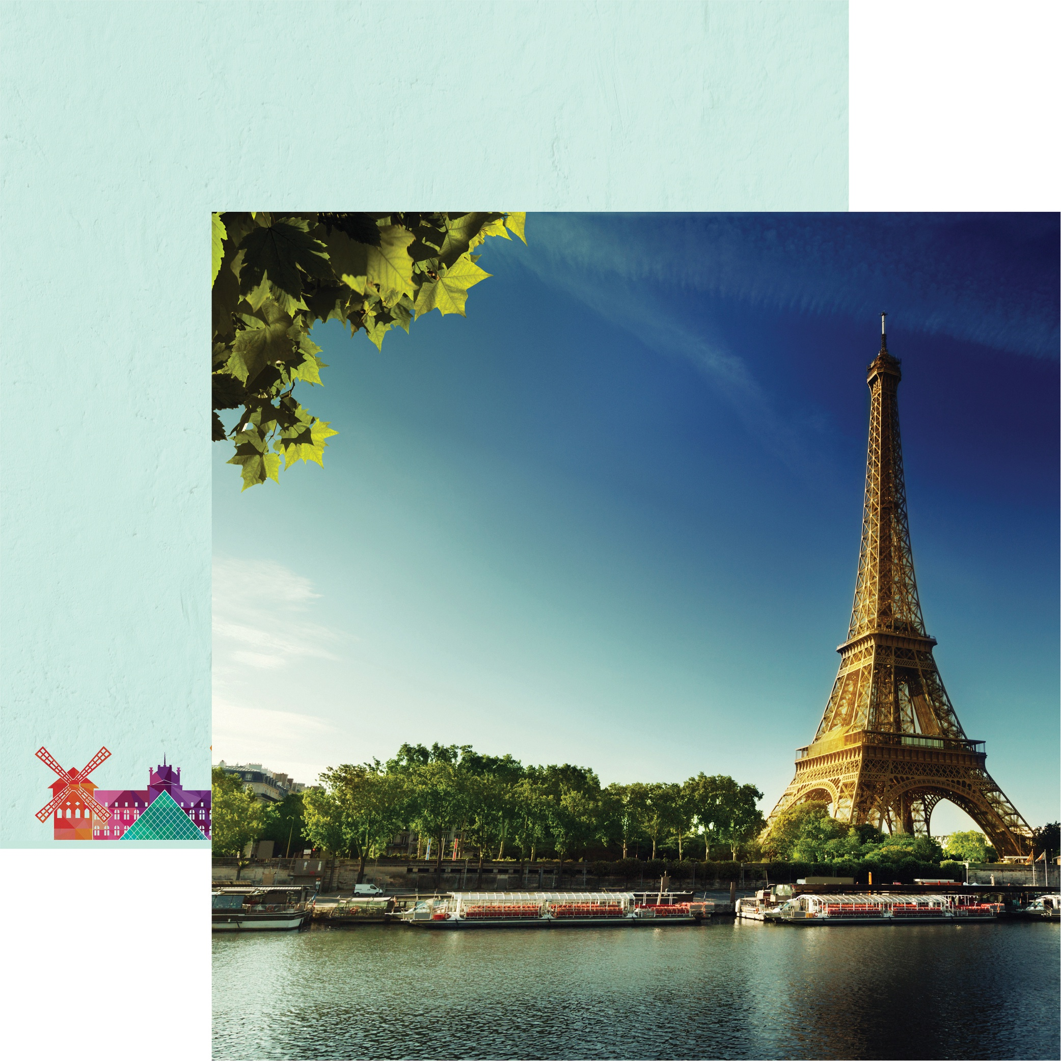 France Double-Sided Cardstock 12X12-Eiffel Tower