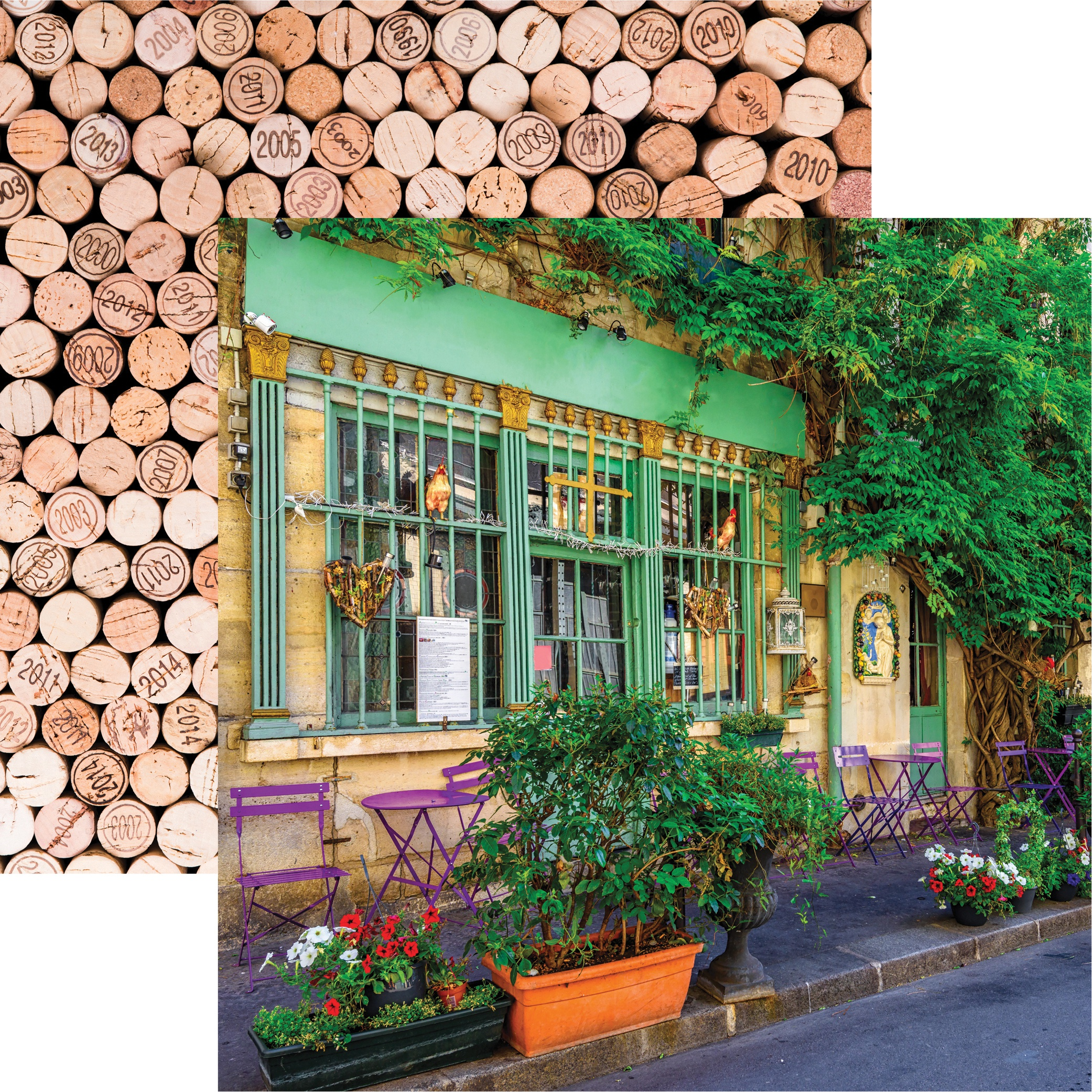 France Double-Sided Cardstock 12X12-Parisian Cafe