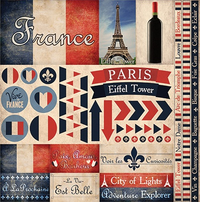 France Elements Stickers 12X12-