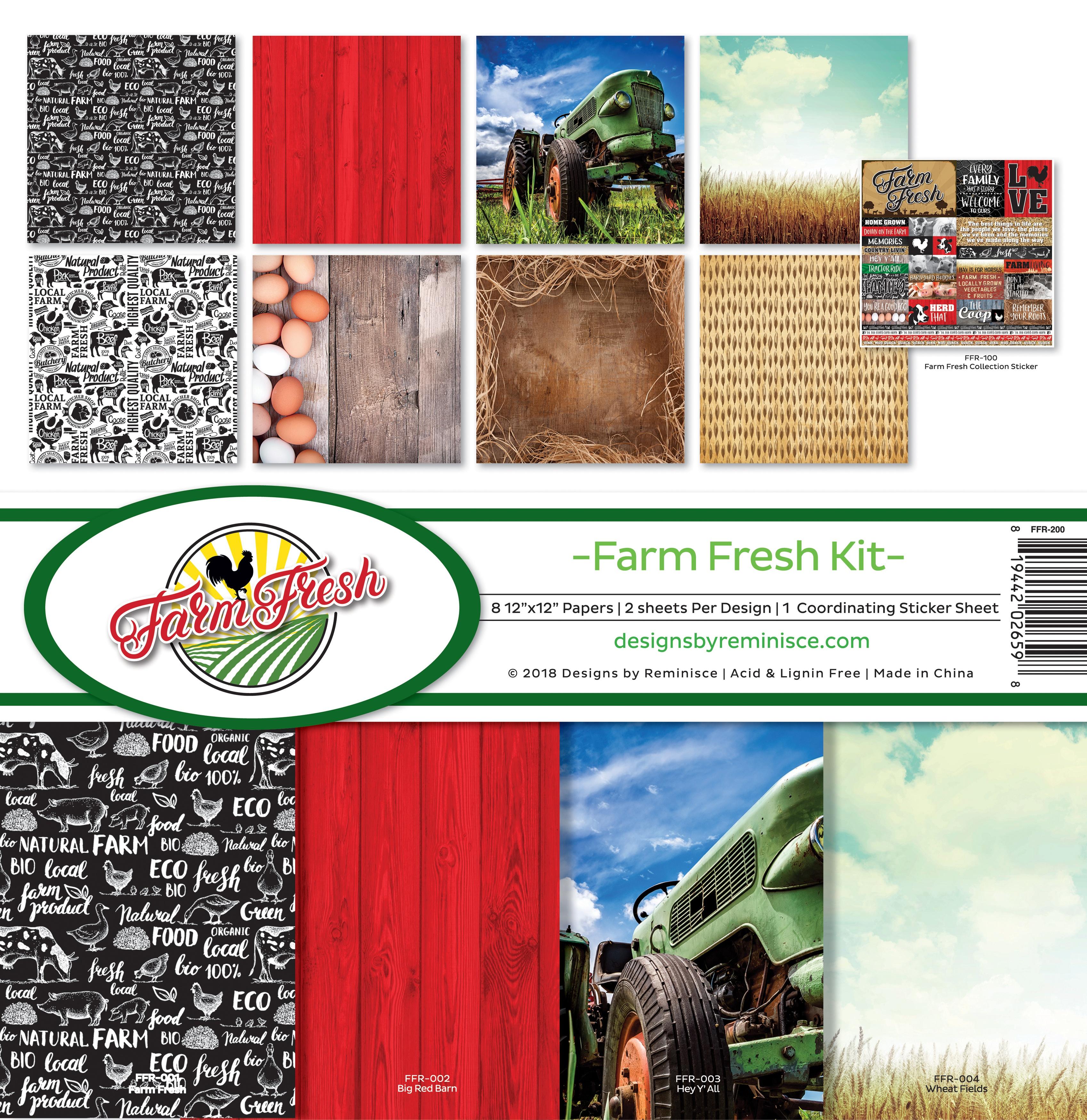 Reminisce Collection Kit 12X12-Farm Fresh