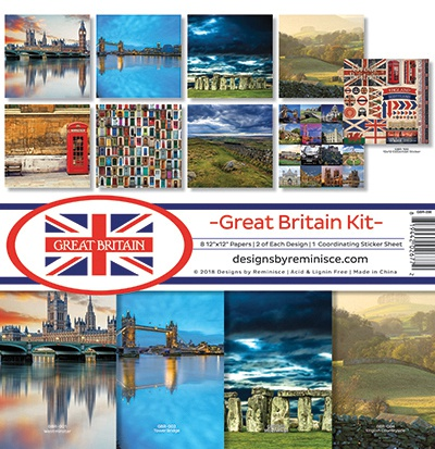 Reminisce Collection Kit 12X12 - Great Britain