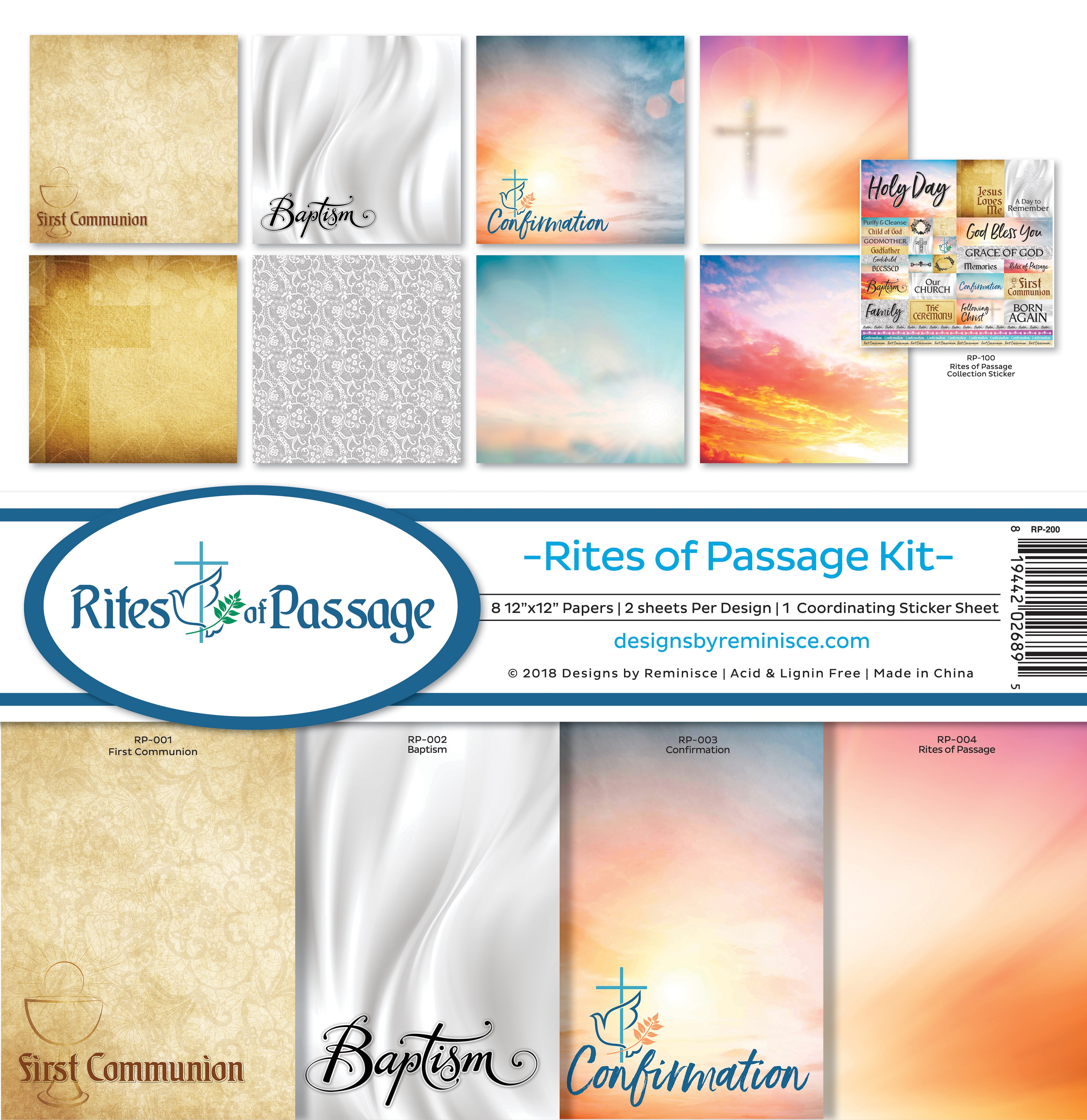 Reminisce Collection Kit 12'x12' - Rites Of Passage