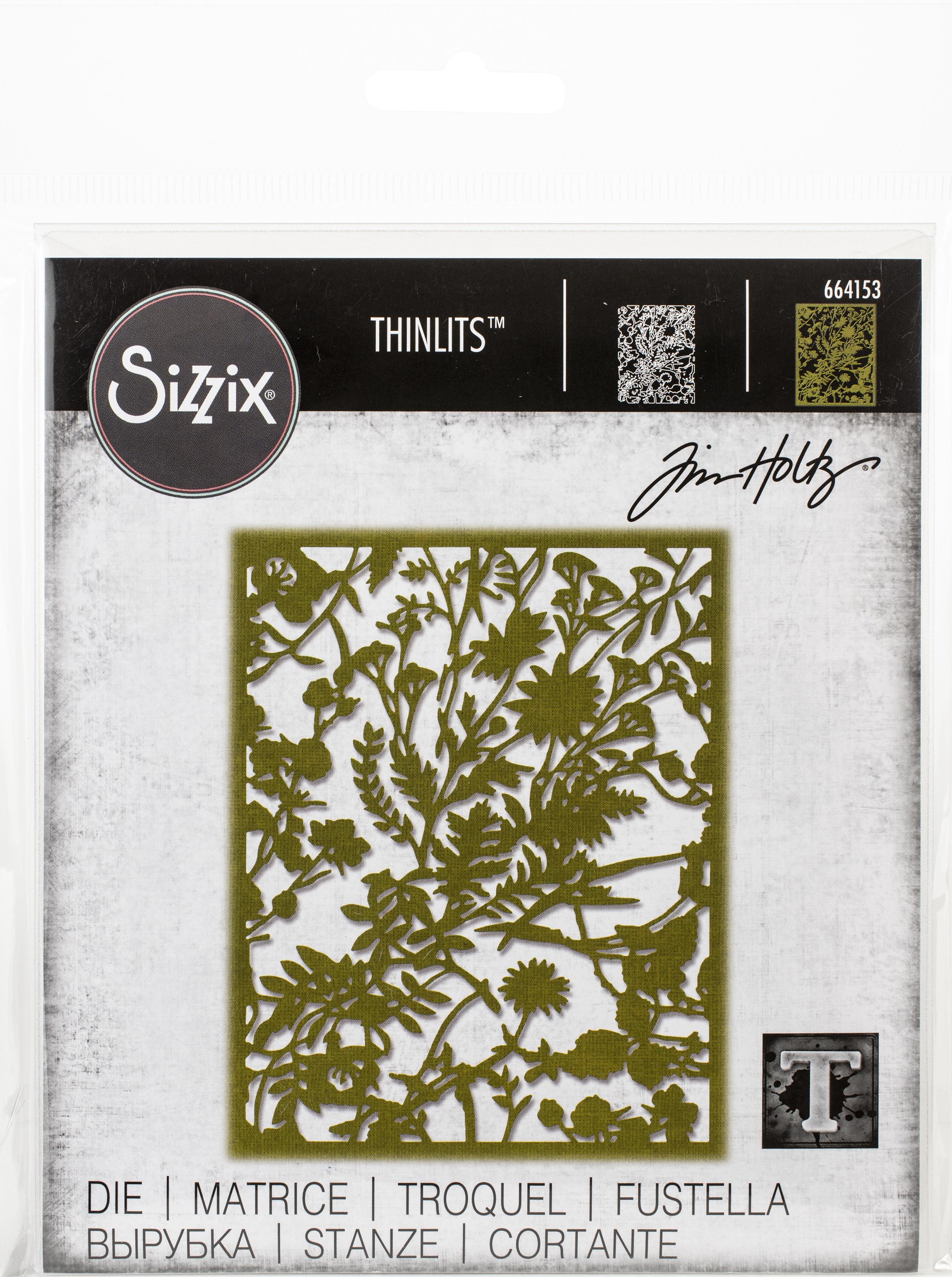 Sizzix Thinlits Dies By Tim Holtz-Organic