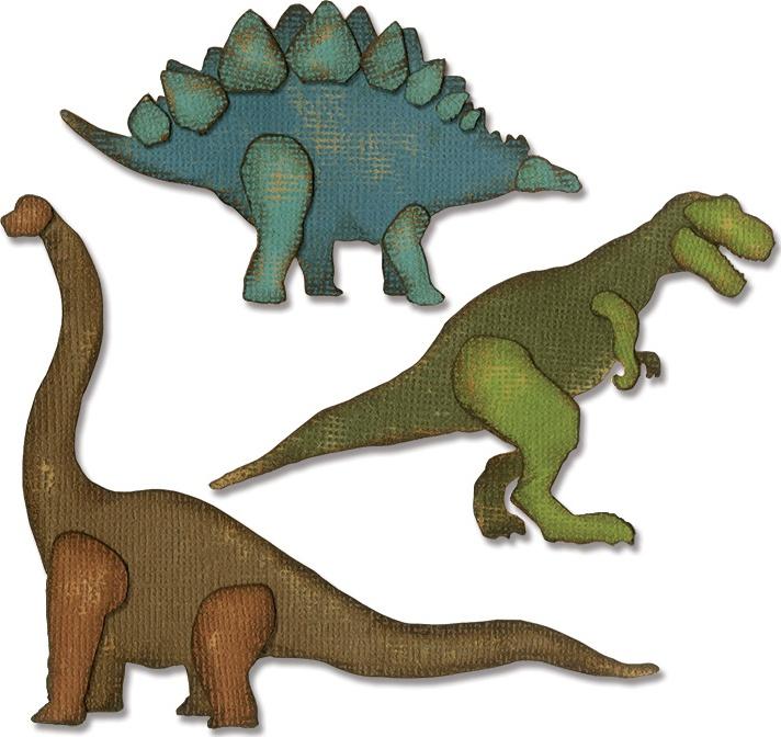Sizzix Thinlits Dies By Tim Holtz-Prehistoric