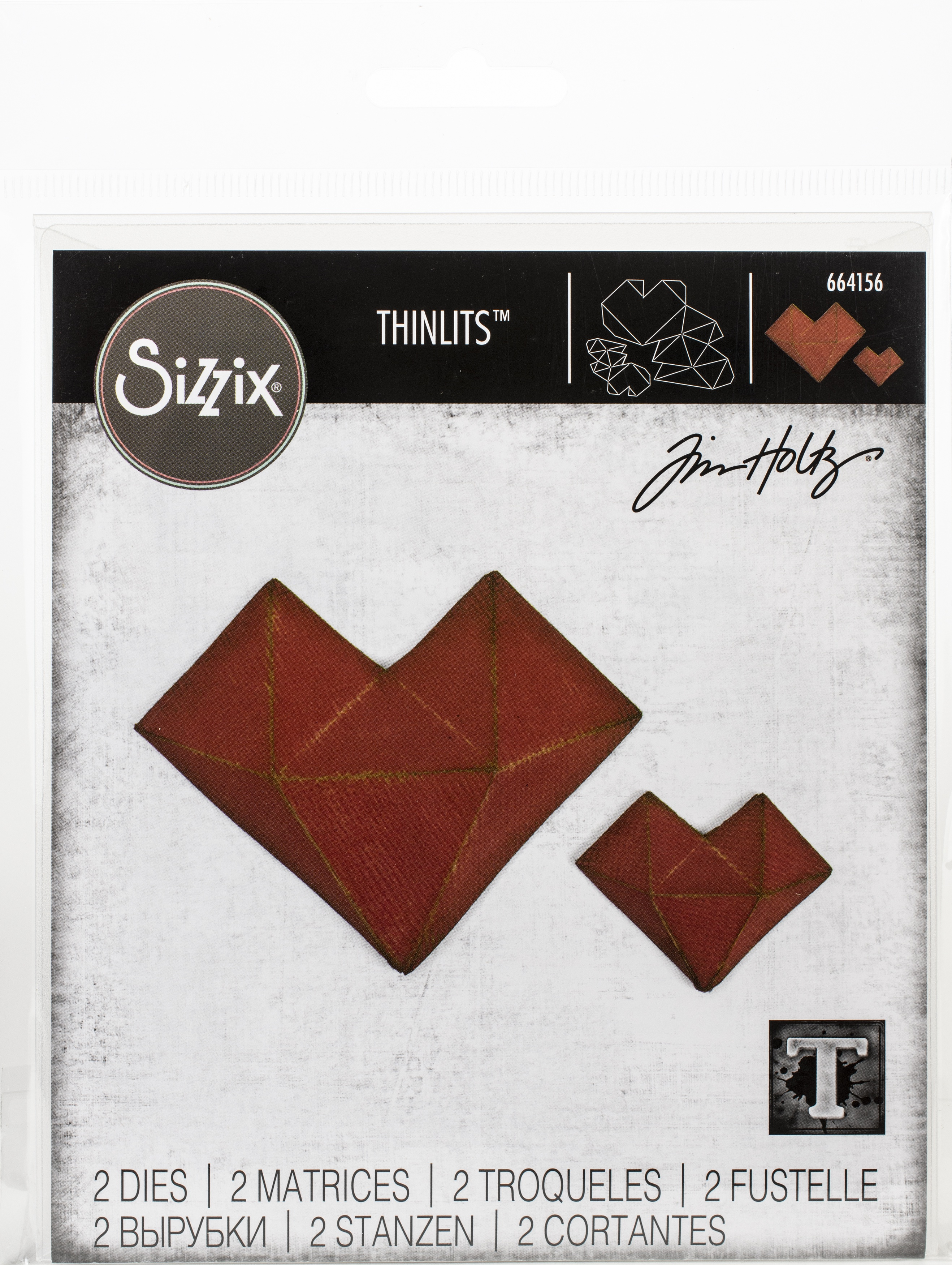 Sizzix Thinlits Dies By Tim Holtz-Faceted Heart
