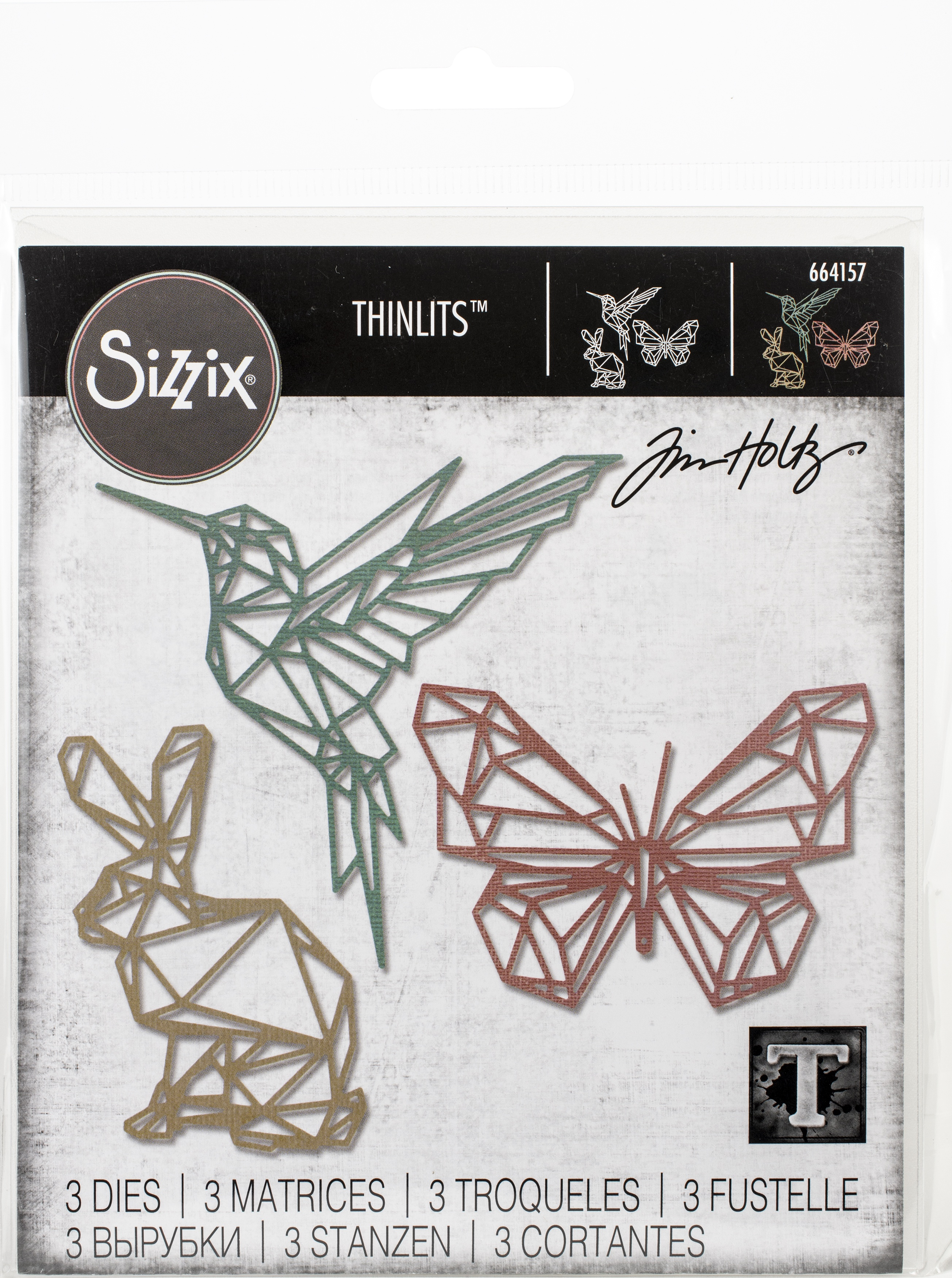 Sizzix Thinlits - Geo Springtime Die Set