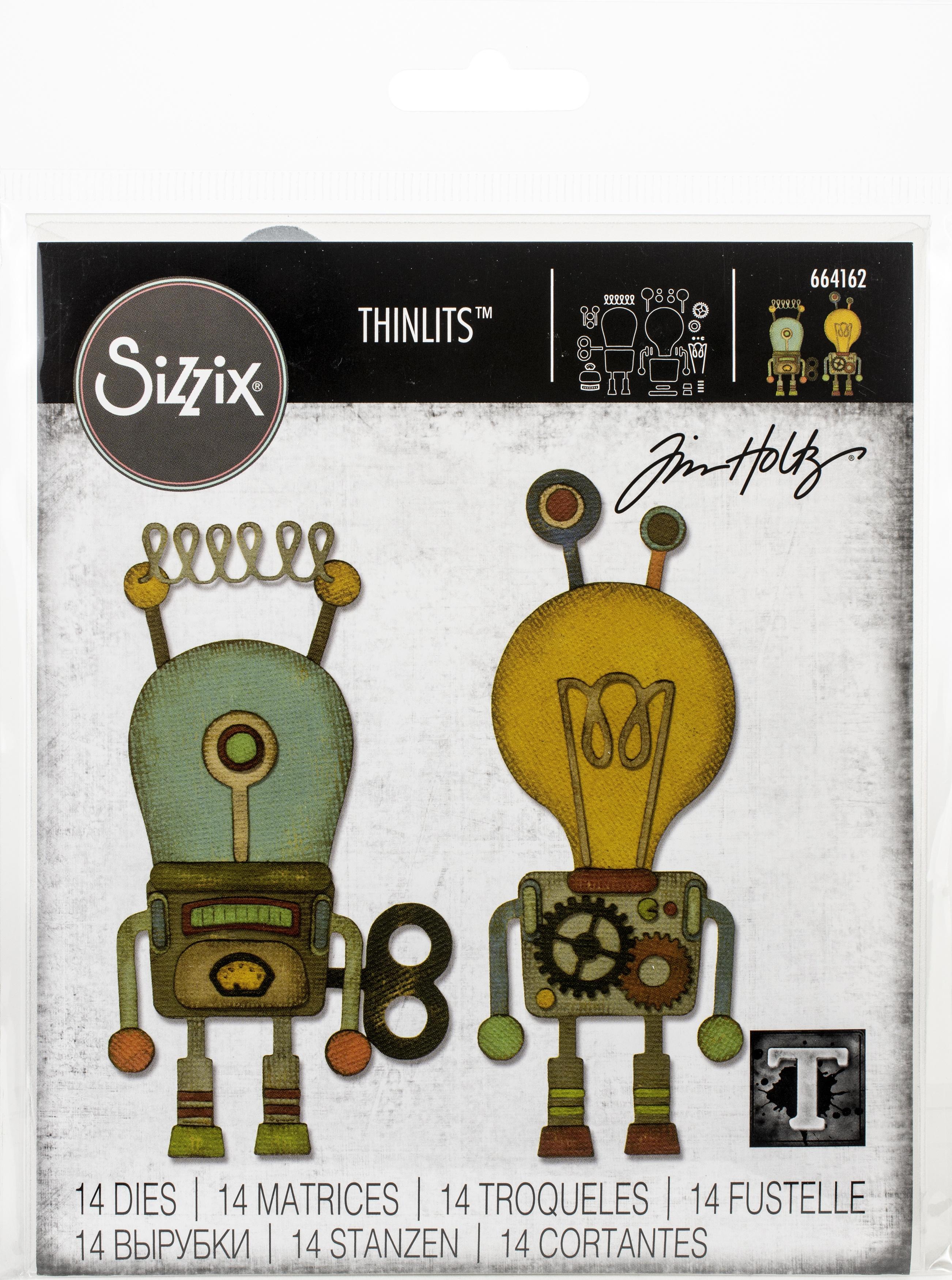Sizzix Thinlits Dies By Tim Holtz-Robotic