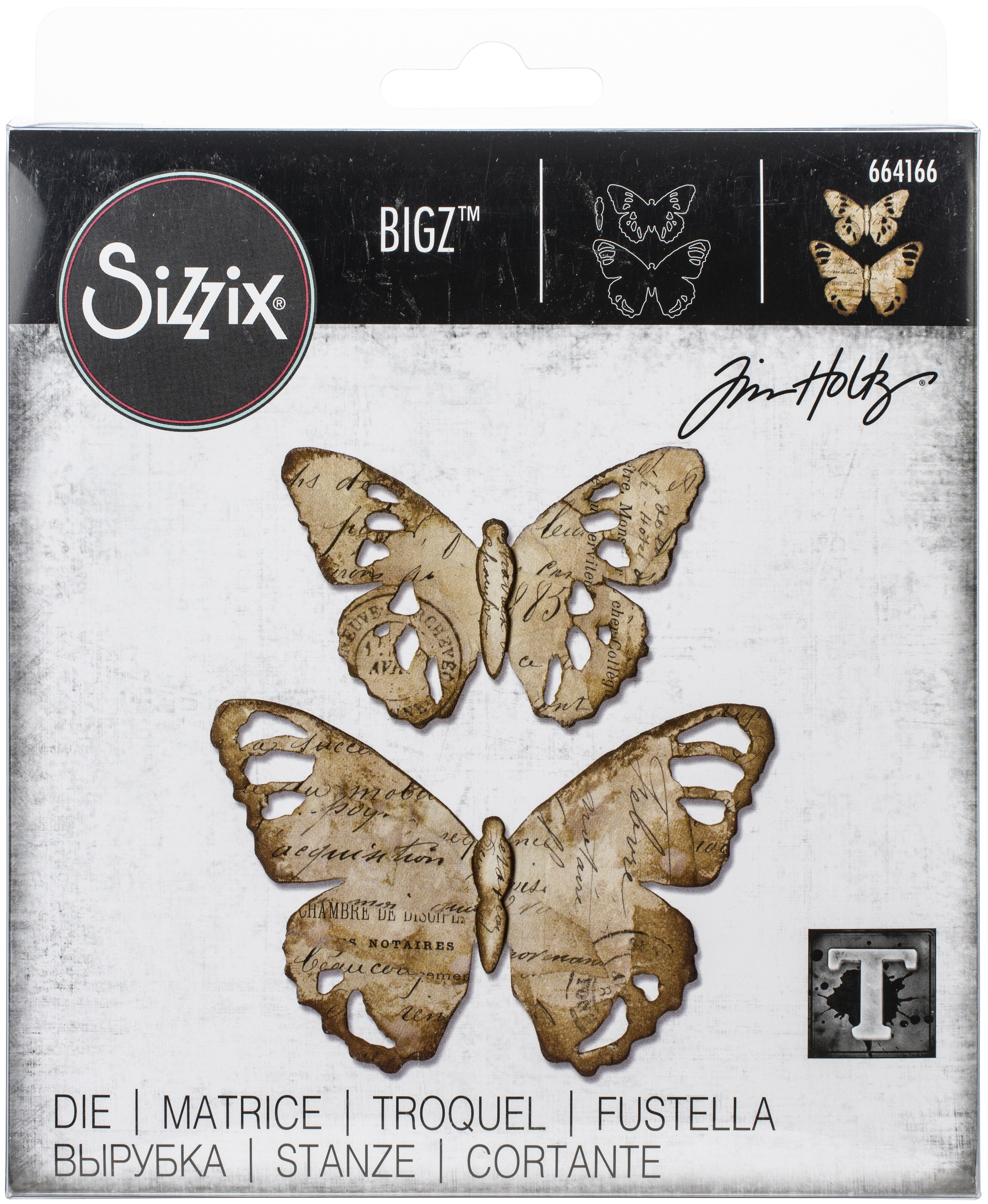 Sizzix Bigz Die By Tim Holtz-Tattered Butterfly