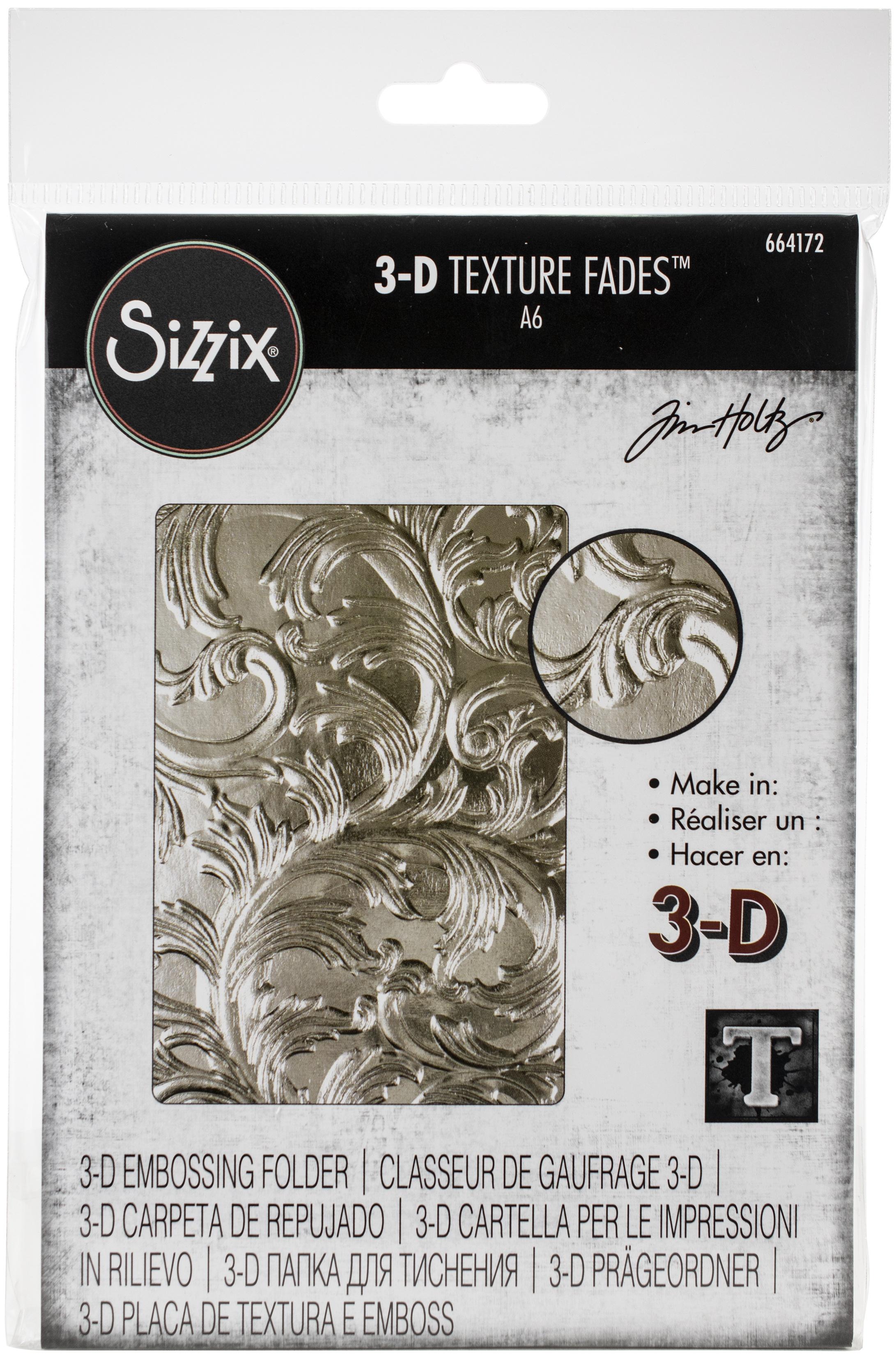 Sizzix 3D Textured Impressions Embossing Folder By Tim Holtz-Elegant