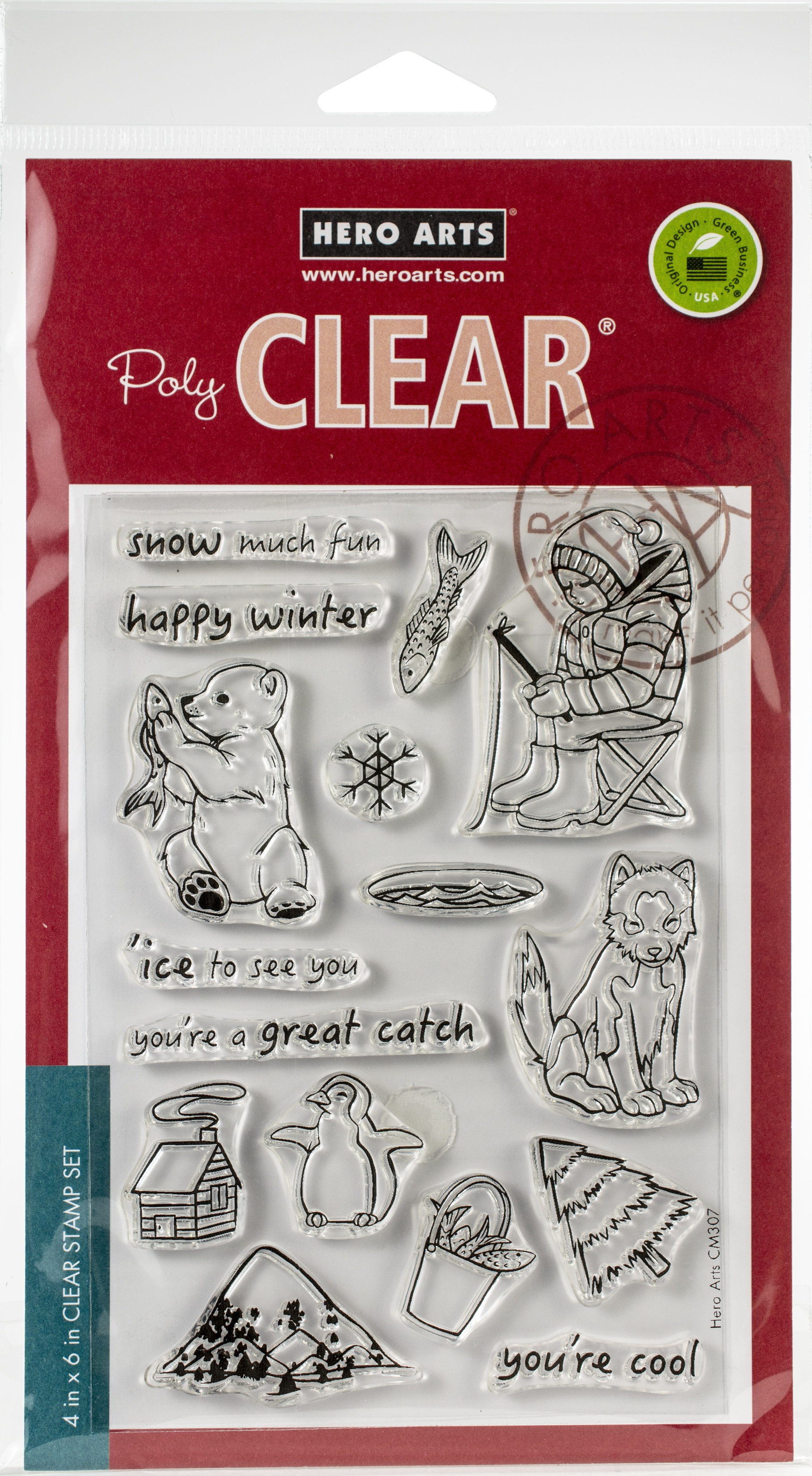 Hero Arts Clear Stamps 4X6-Ice Fishing
