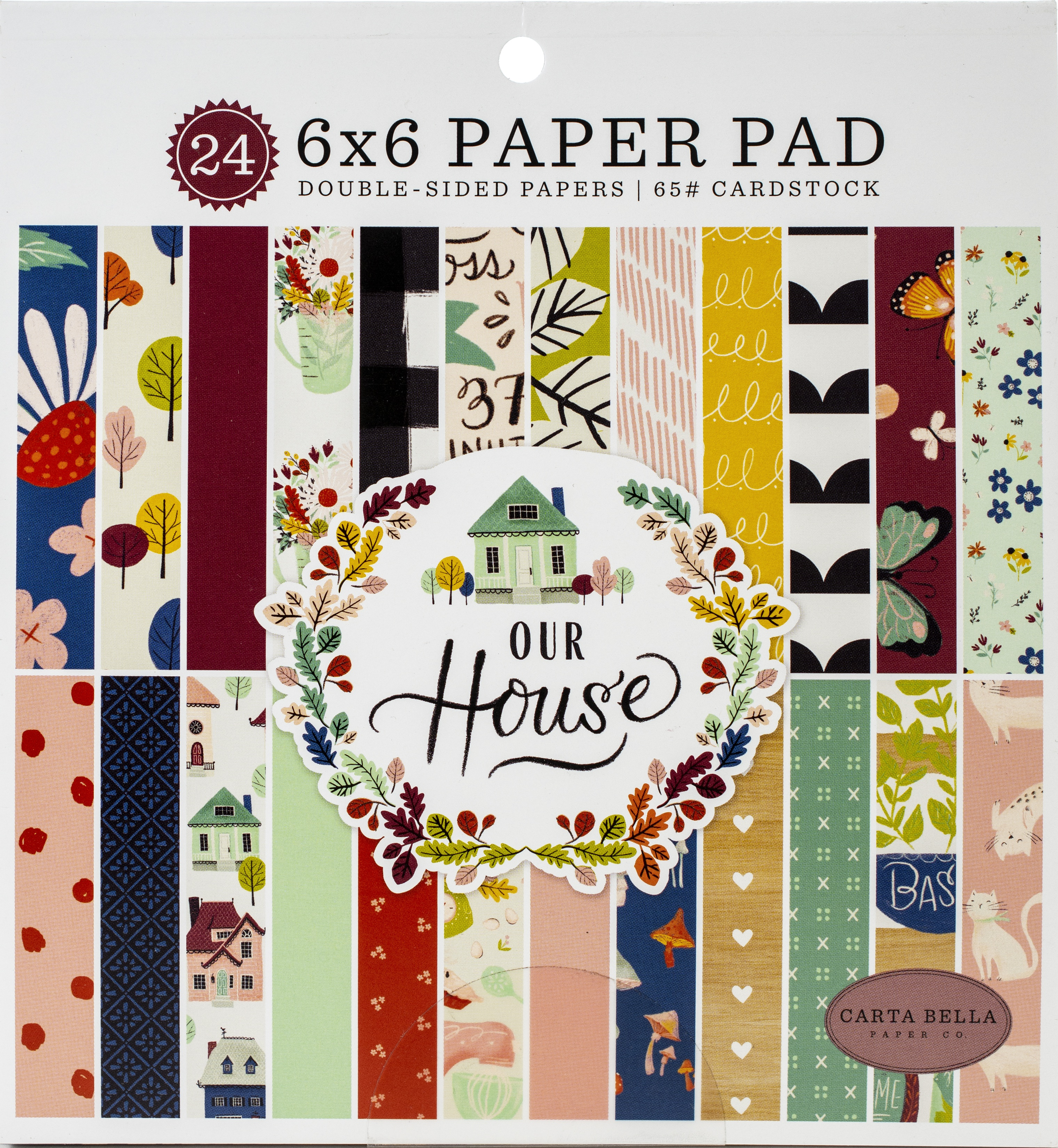 Carta Bella Double-Sided Paper Pad 6X6 24/Pkg-Our House, 12 Designs/2 Each