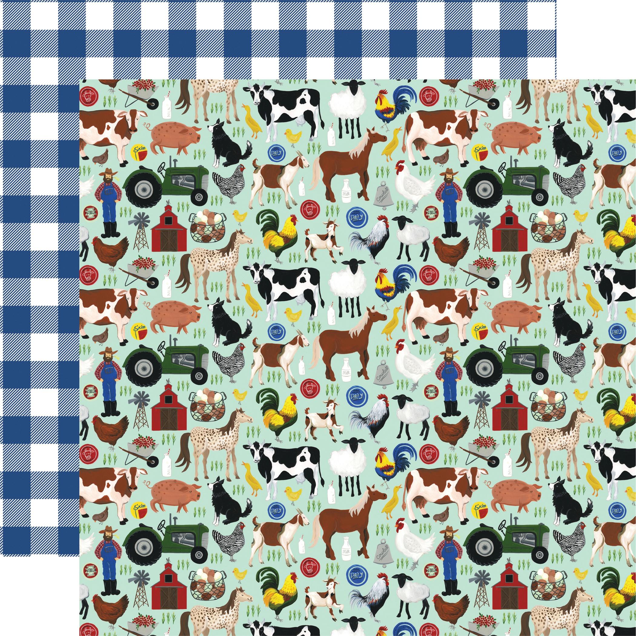 Down On The Farm Double-Sided Cardstock 12X12-Barn Yard Friends