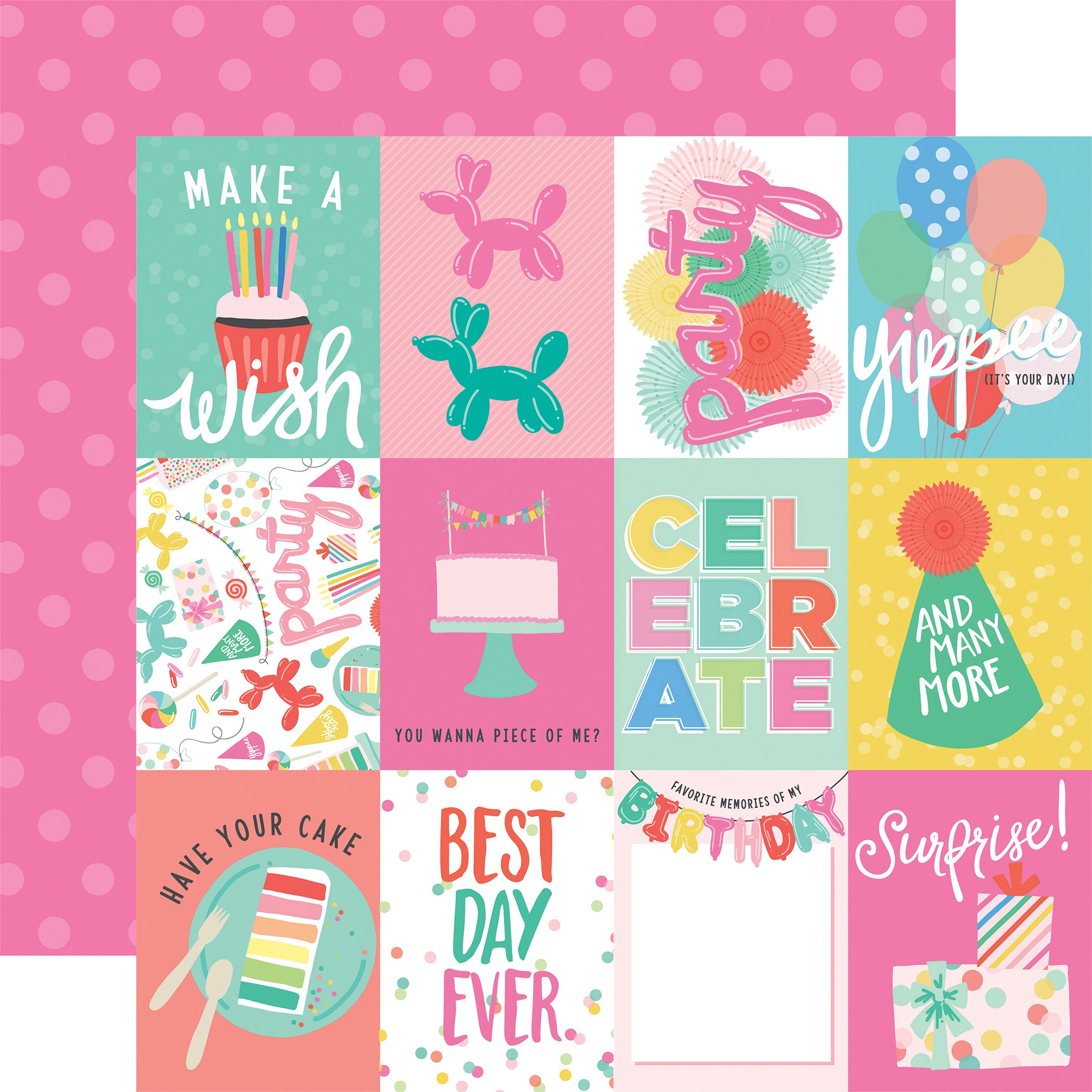 Echo Park Let's Party Double-Sided Cardstock 12X12-Party Animals