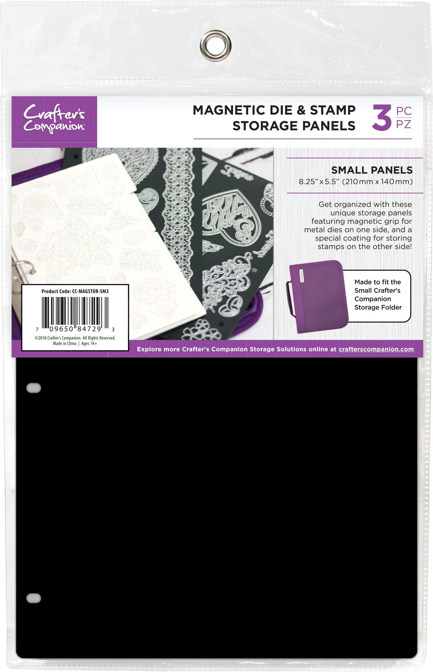8.25X5.5 Magnetic Storage Panels 3/Pkg Small