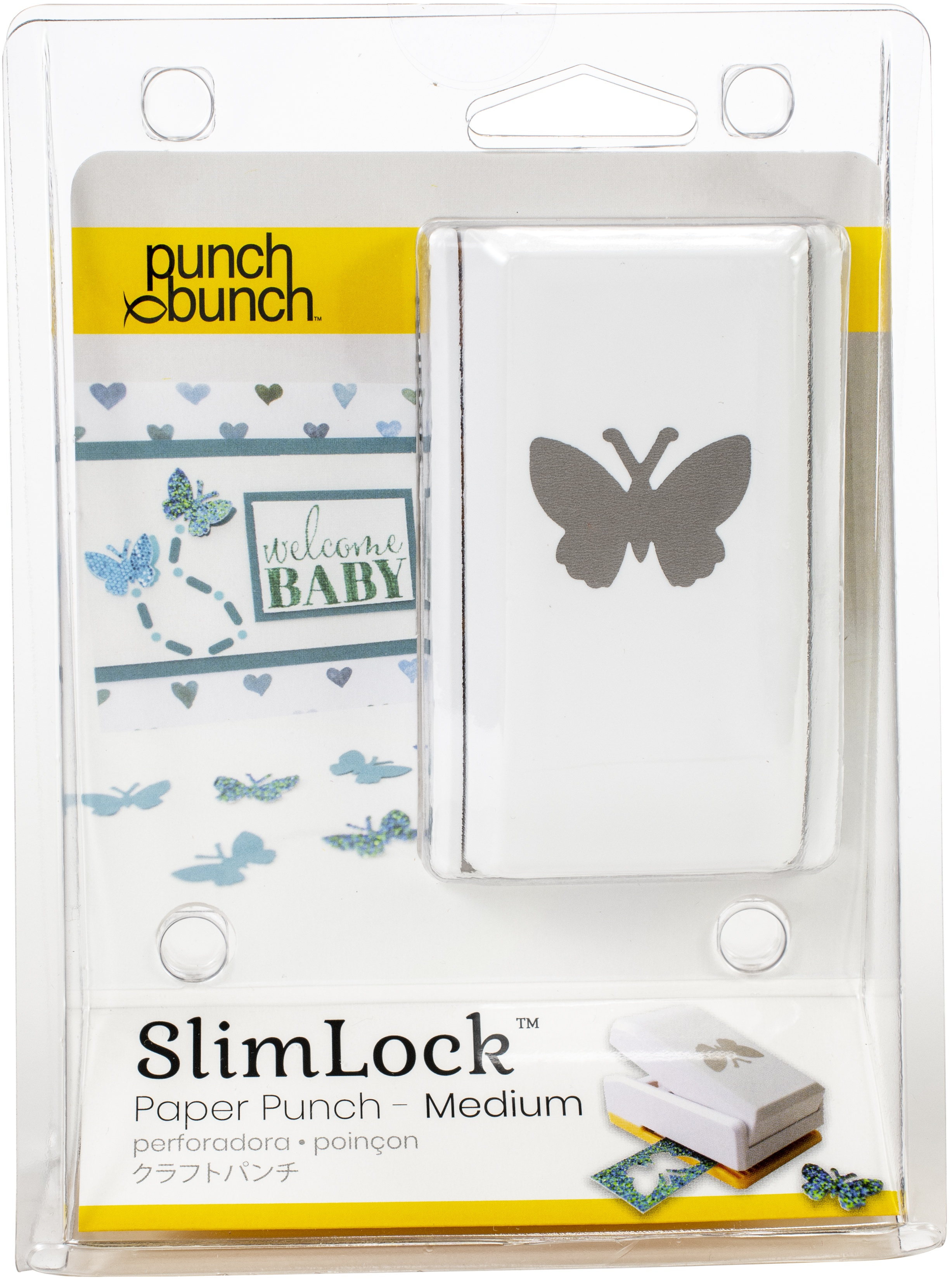 Punch Bunch SlimLock Medium Punch-Butterfly 1X.75