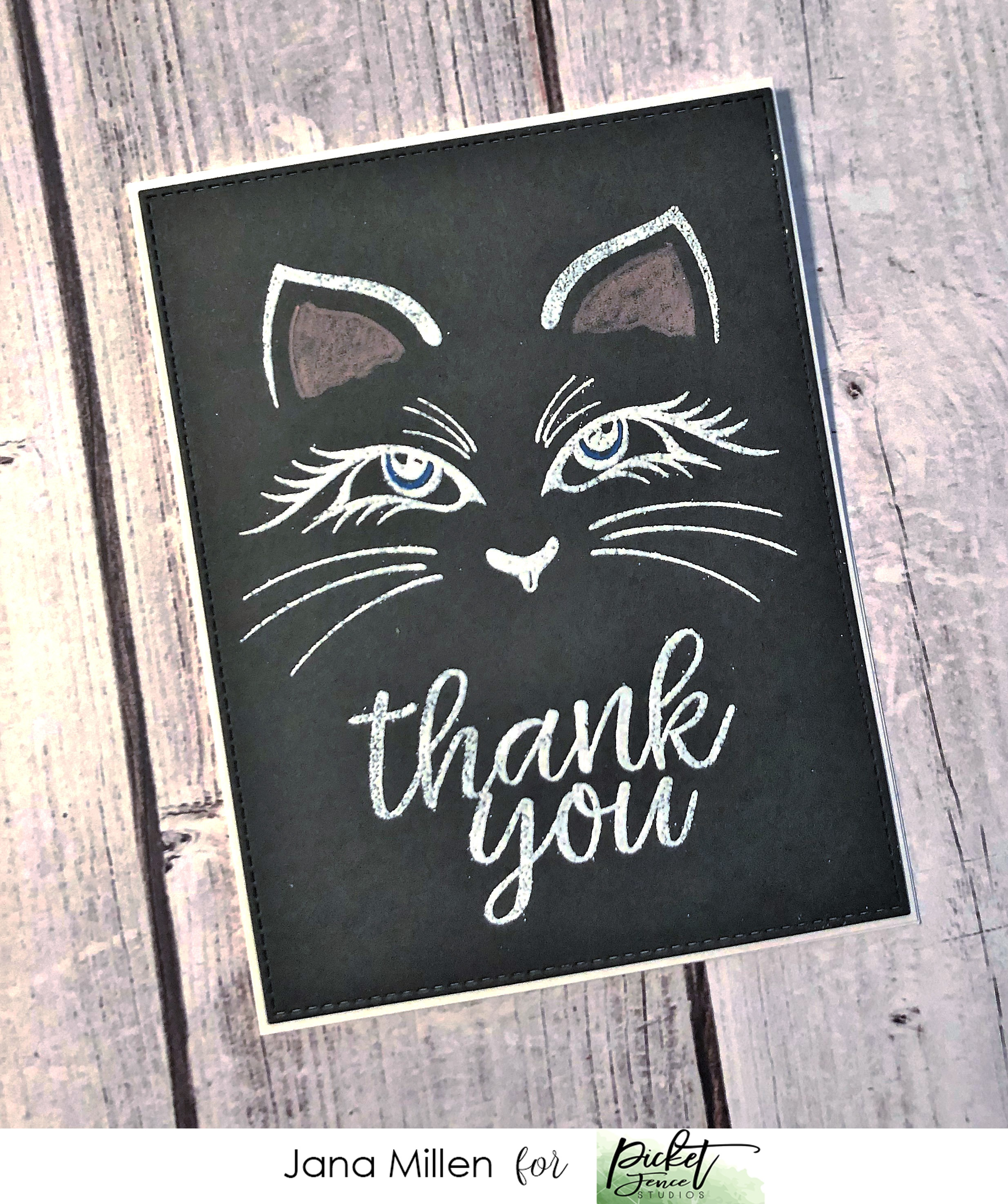 Picket Fence Studios 2X3 Stamp Set-Thank You