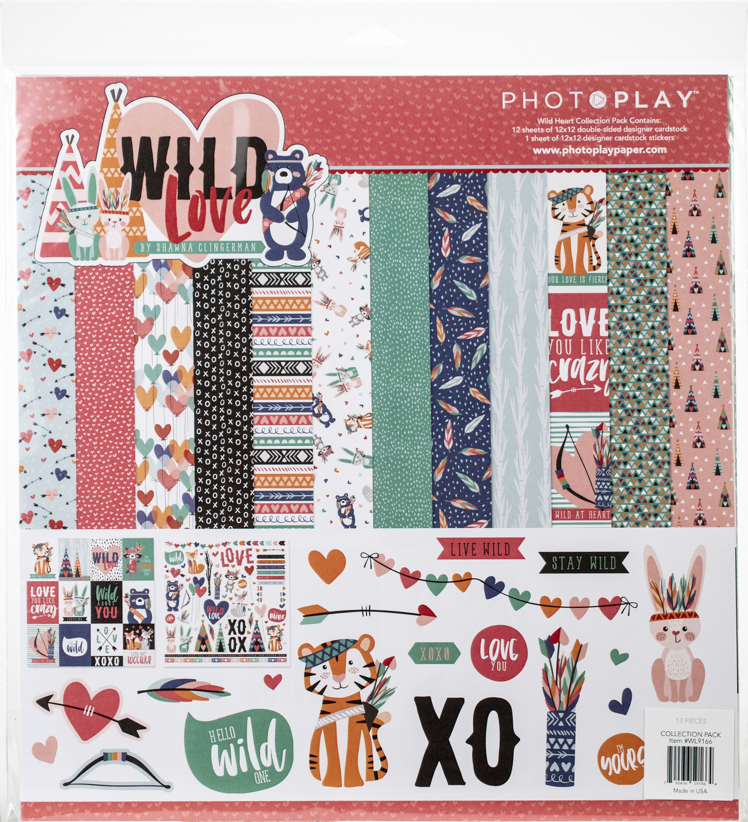 PhotoPlay Collection Pack 12X12-Wild Love