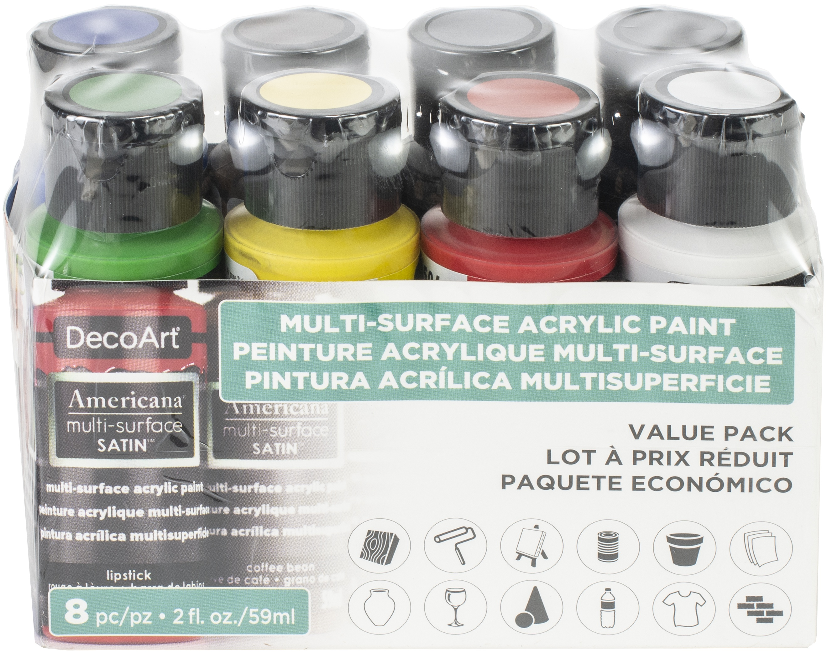 Americana Multi-Surface Satin Value Pack 8/Pkg-