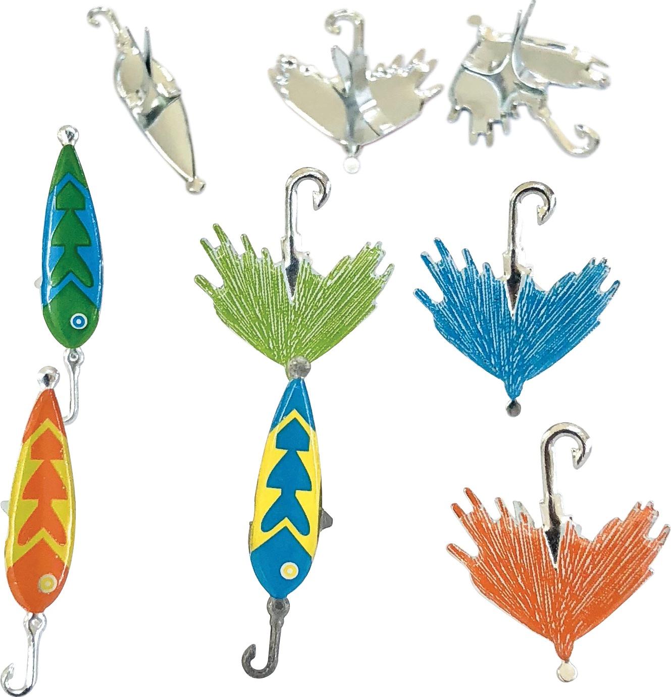 Eyelet Outlet Shape Brads 12/Pkg-Fishing Lure