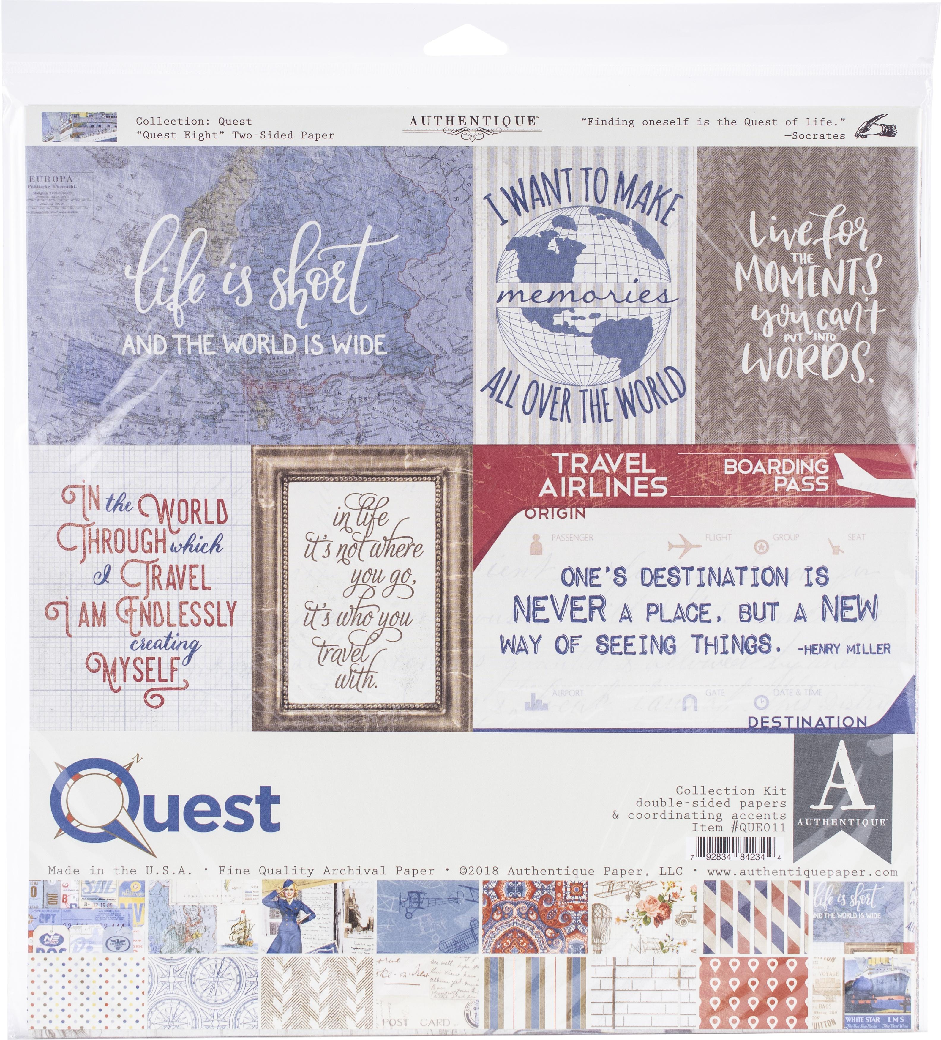 Authentique Quest Collection Pack Paper