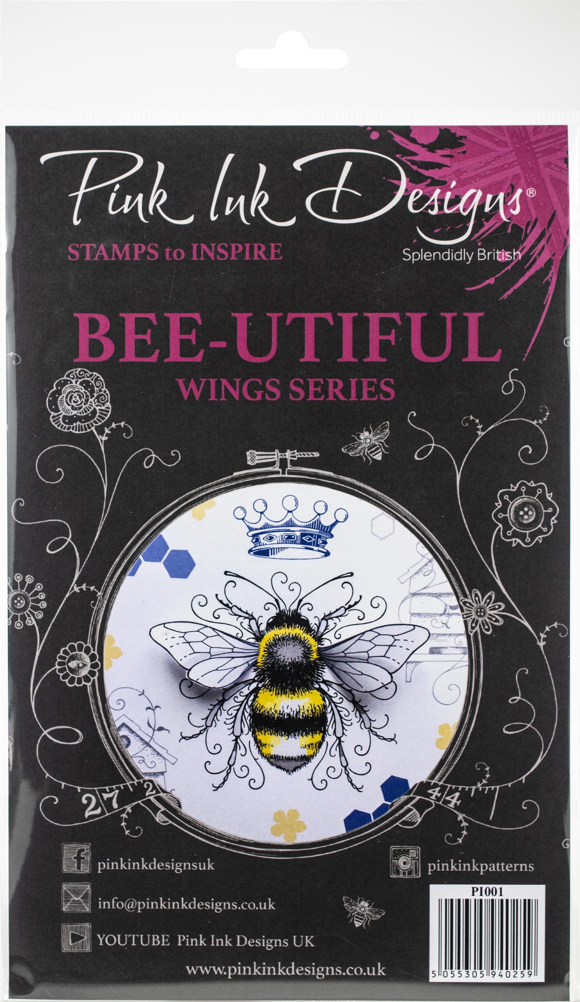 Pink Ink Designs A5 Clear Stamp Set-Bee-Utiful