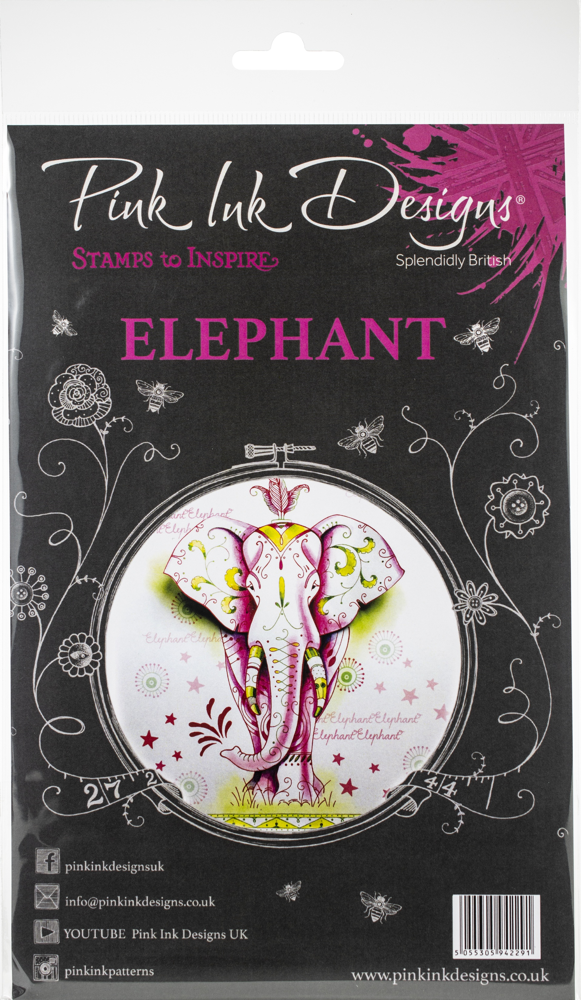 Pink Ink Designs A5 Clear Stamp Set-Elephant