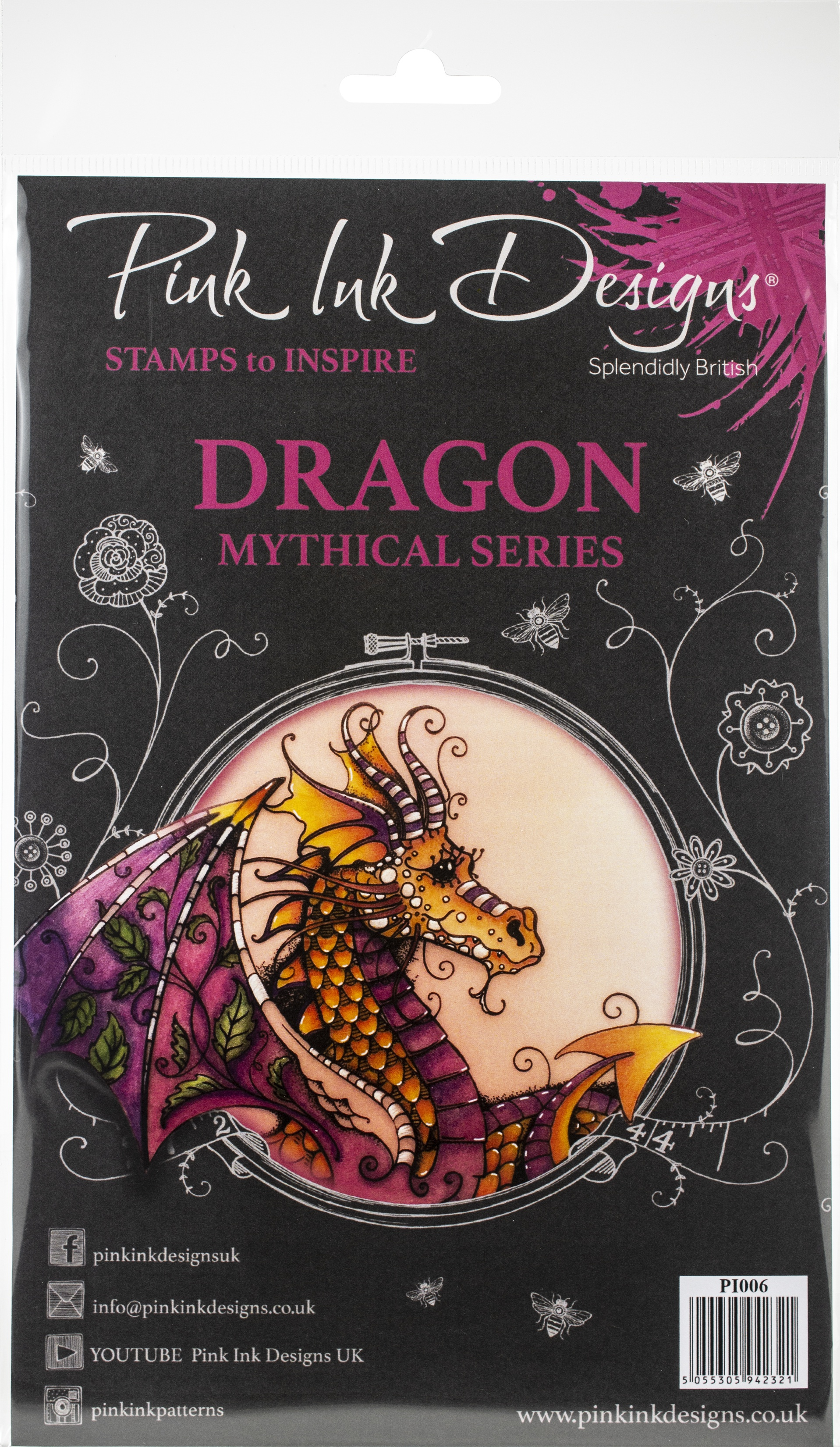 Pink Ink Designs A5 Clear Stamp Set-Dragon
