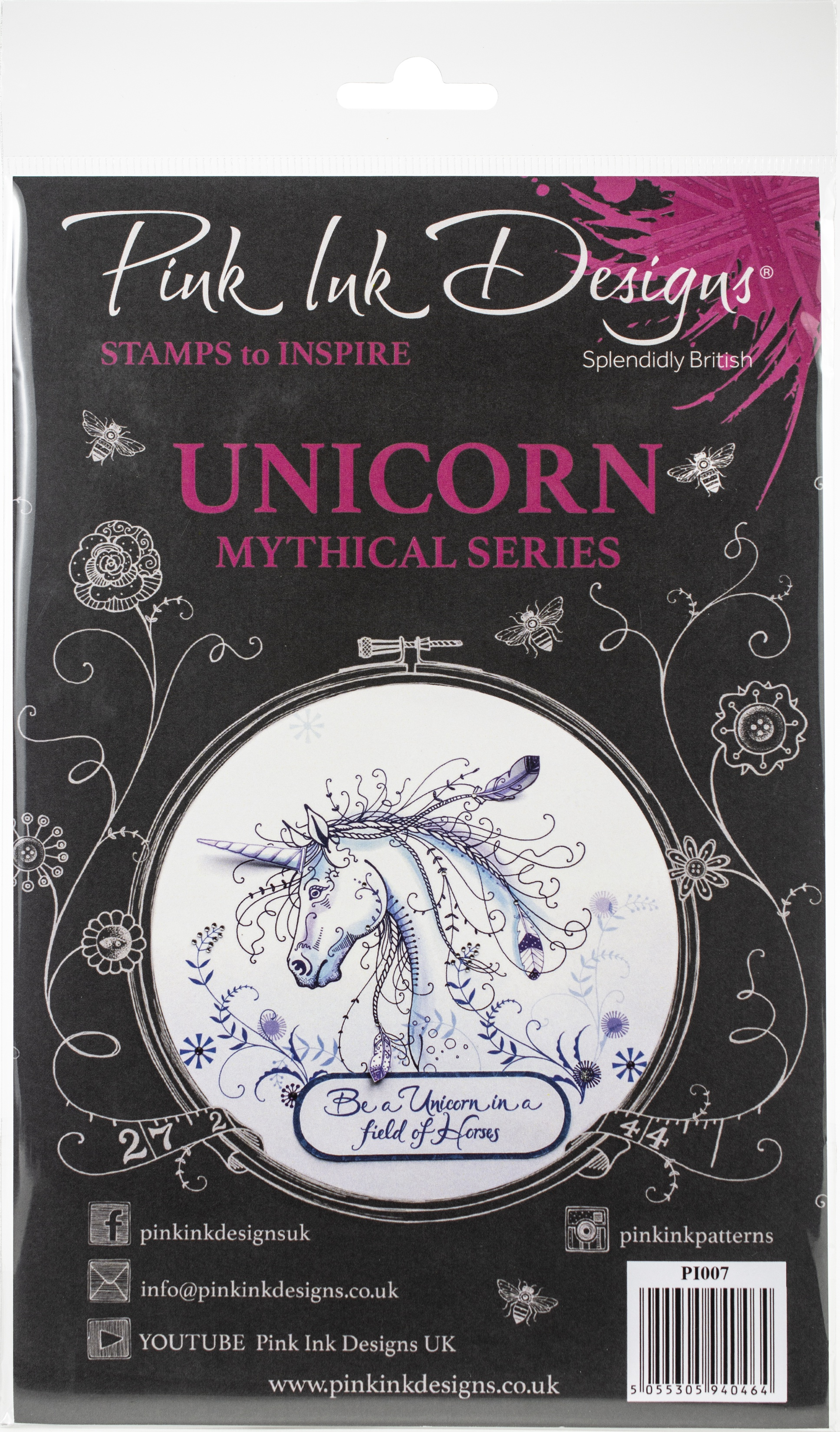 Pink Ink Designs A5 Clear Stamp Set-Unicorn