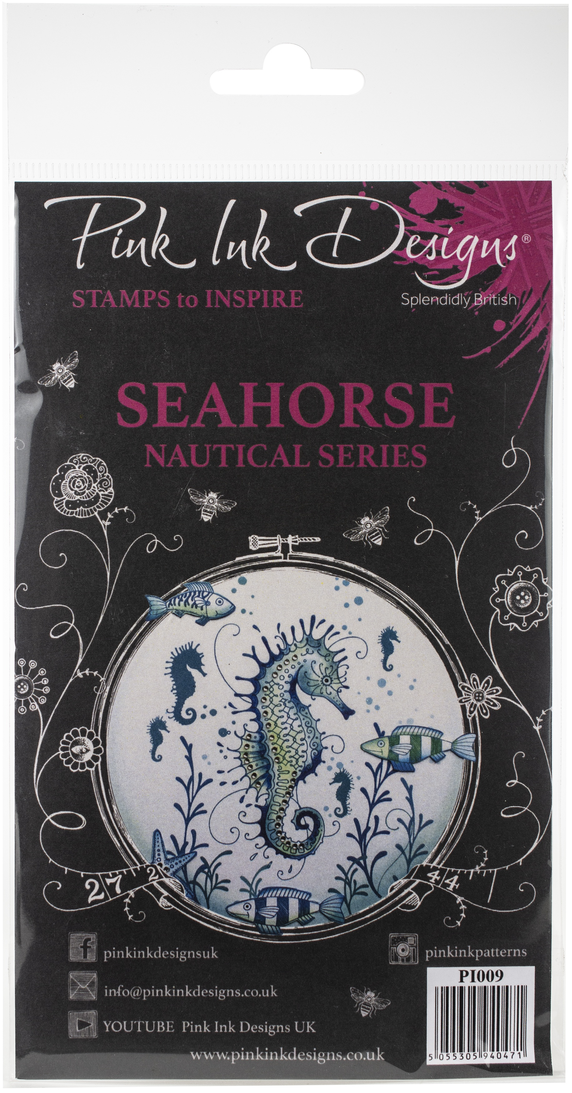 Pink Ink Designs A5 Clear Stamp Set-Seahorse