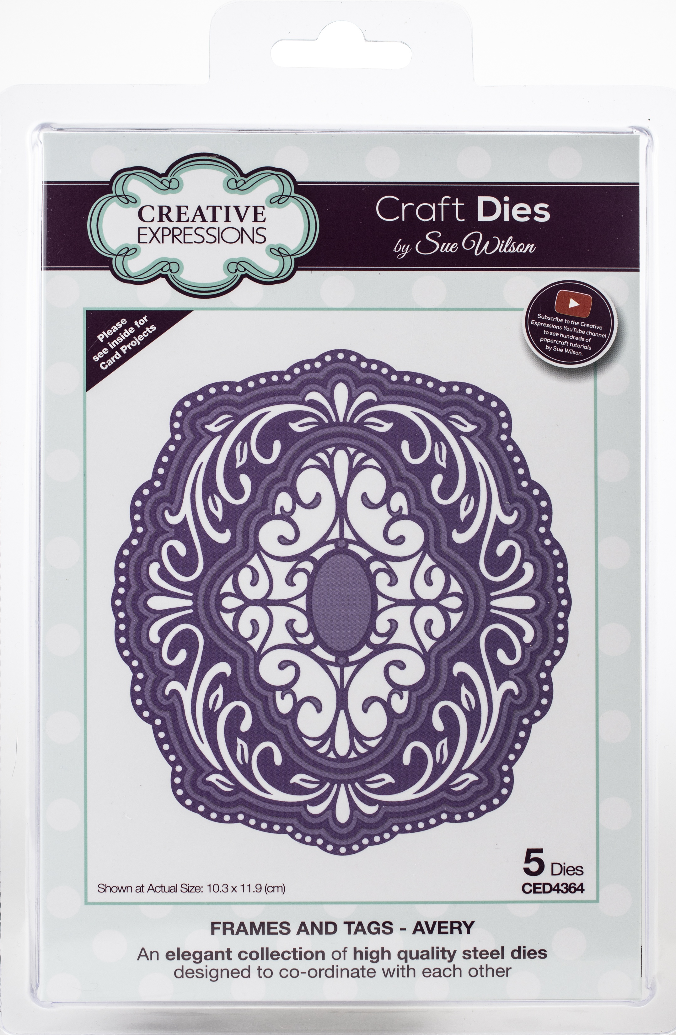 Creative Expressions Craft Dies By Sue Wilson-Frames & Tags-Avery