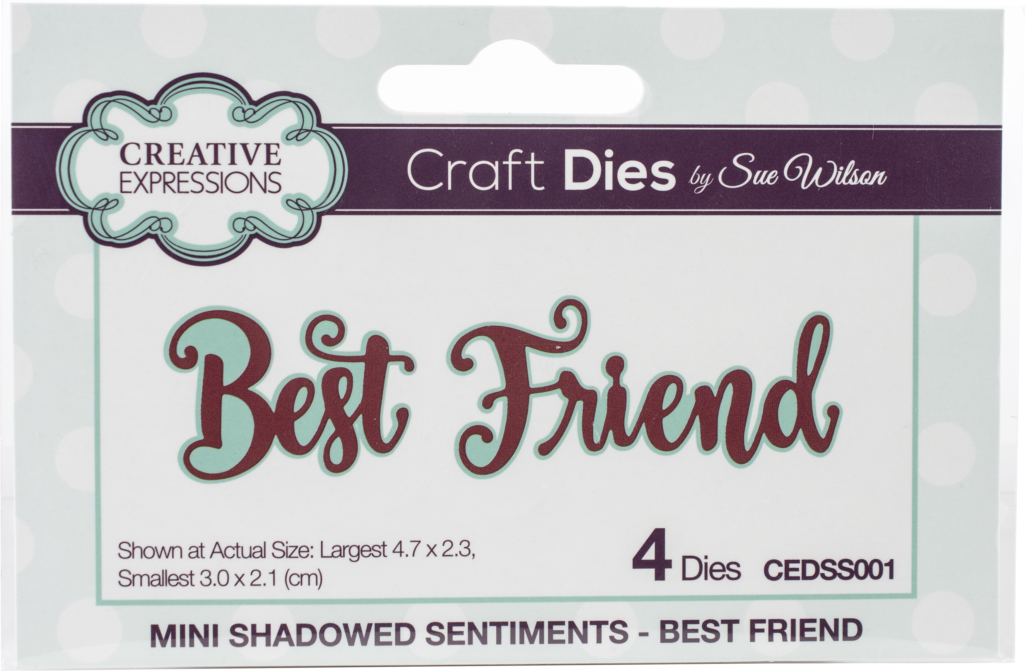 Creative Expressions Craft Dies By Sue Wilson-Mini Shadowed Sentiments-Best Frie...