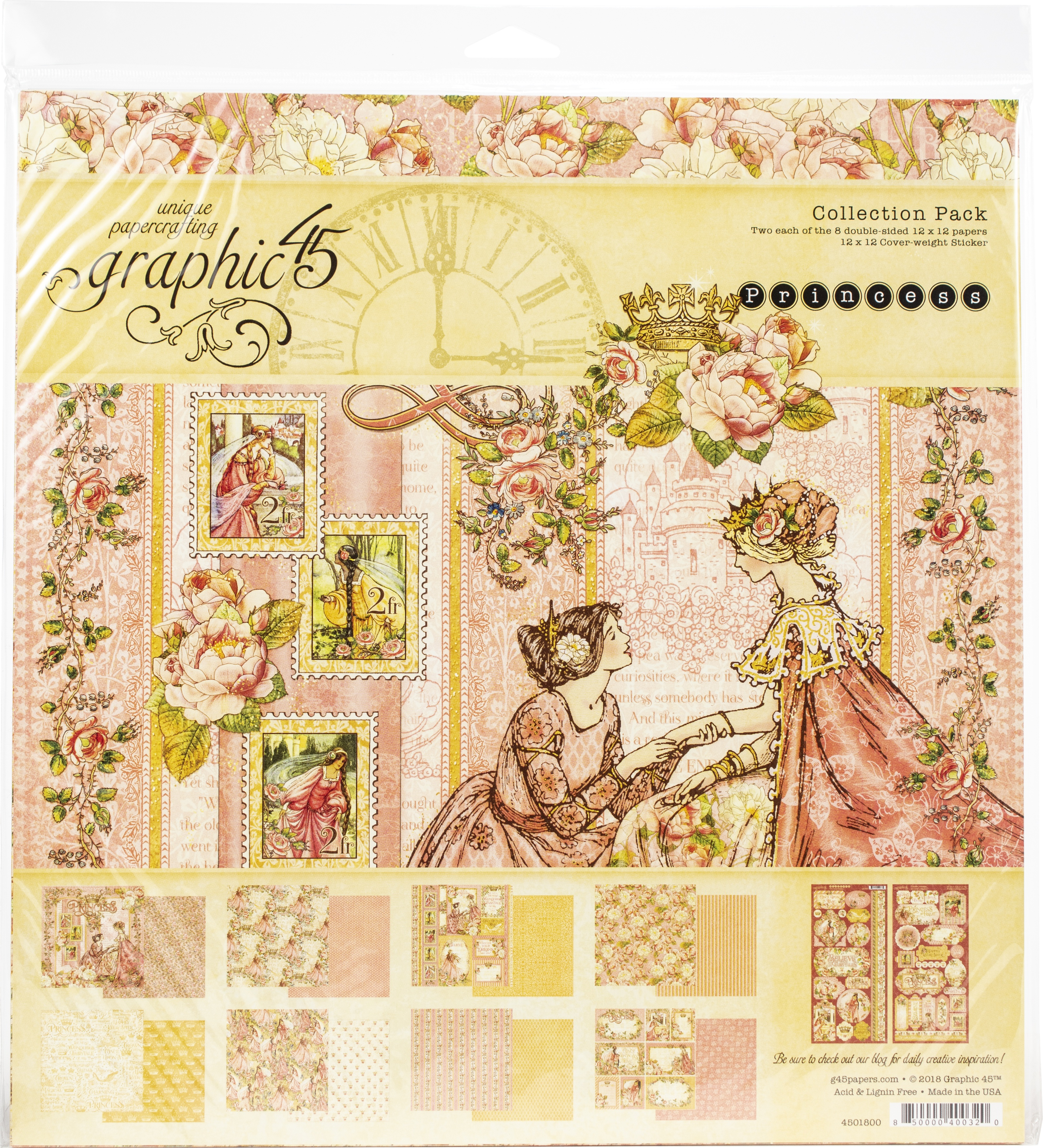 Graphic 45 Collection Pack 12X12-Princess