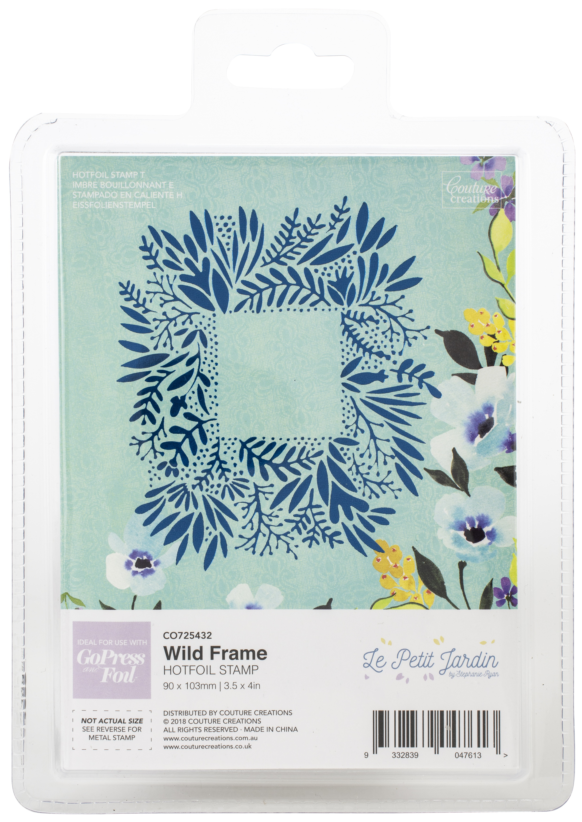 Couture Creations - Hot Foil Stamp - Wild Frame
