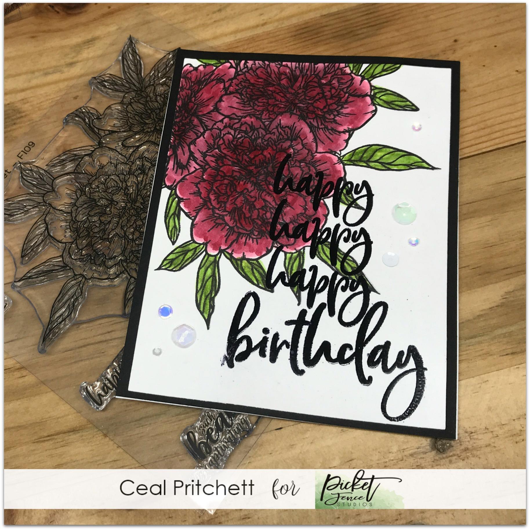 Happy Happy Happy Birthday Stamp