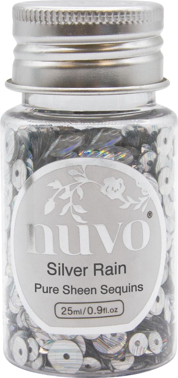 Nuvo Sequins Silver Rain