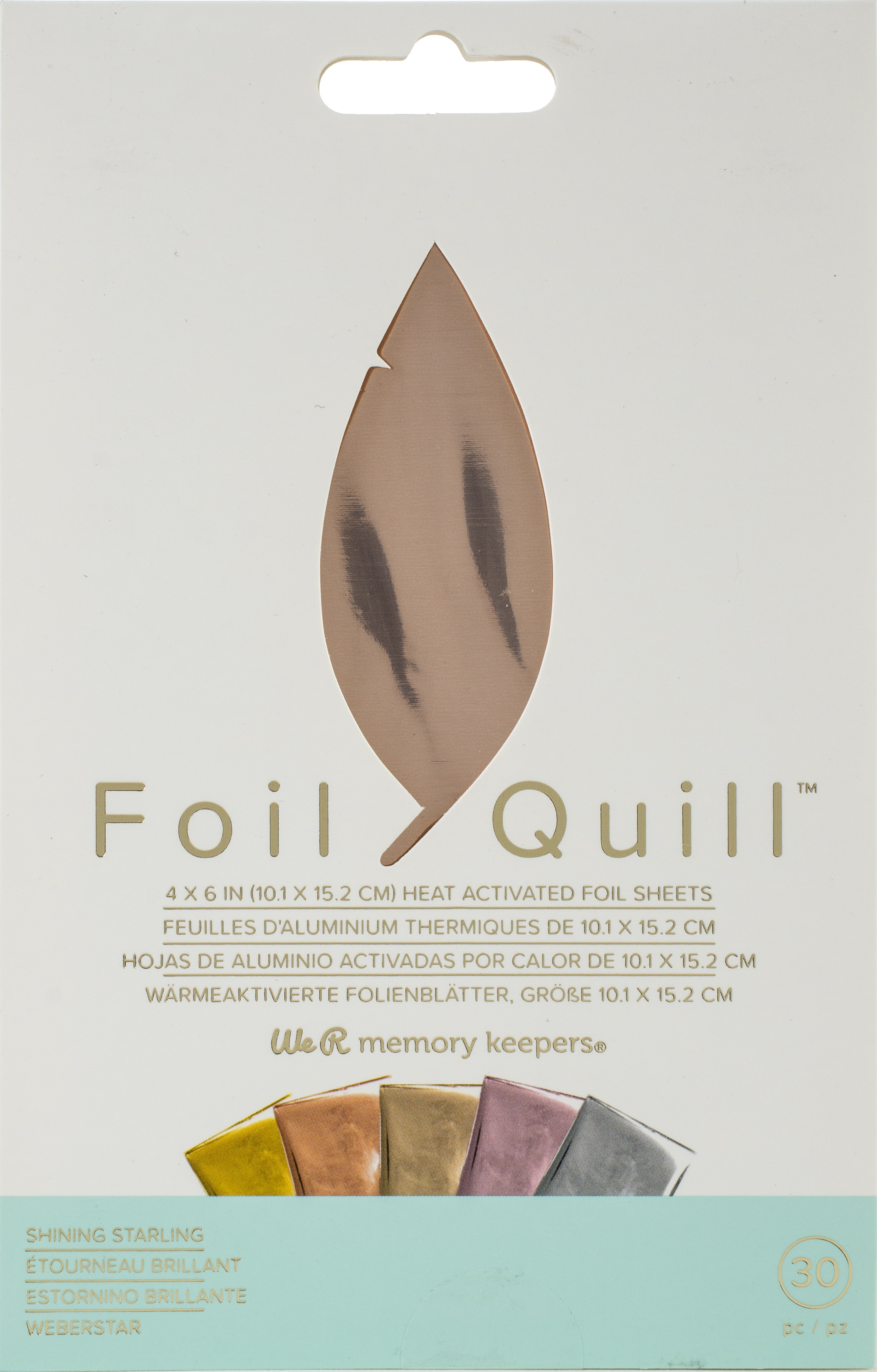 Foil Quill - 4x6 Foil Sheets - Shining Starling, 30/Pkg