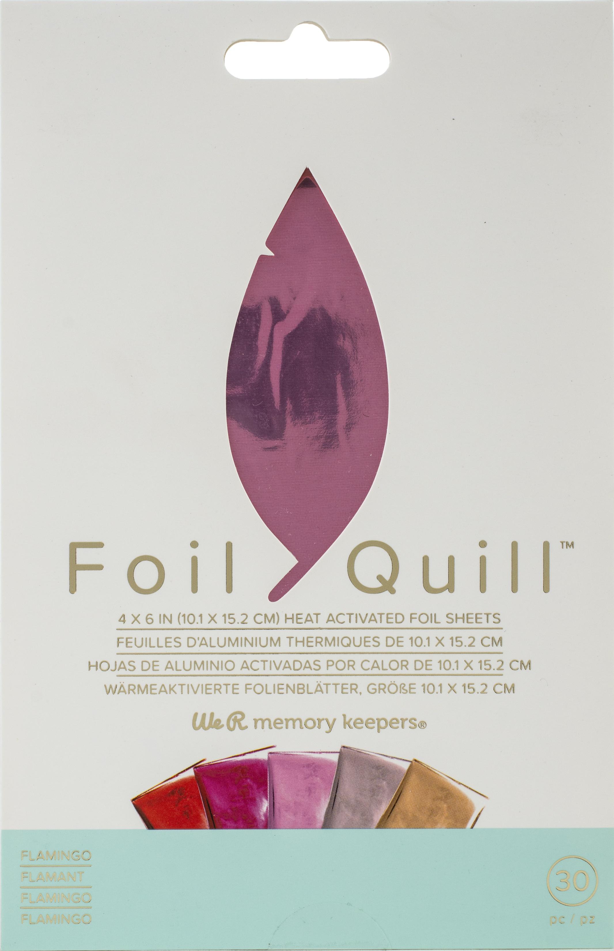 Foil Quill - 4x6 Foil Sheets - Flamingo, 30/Pkg
