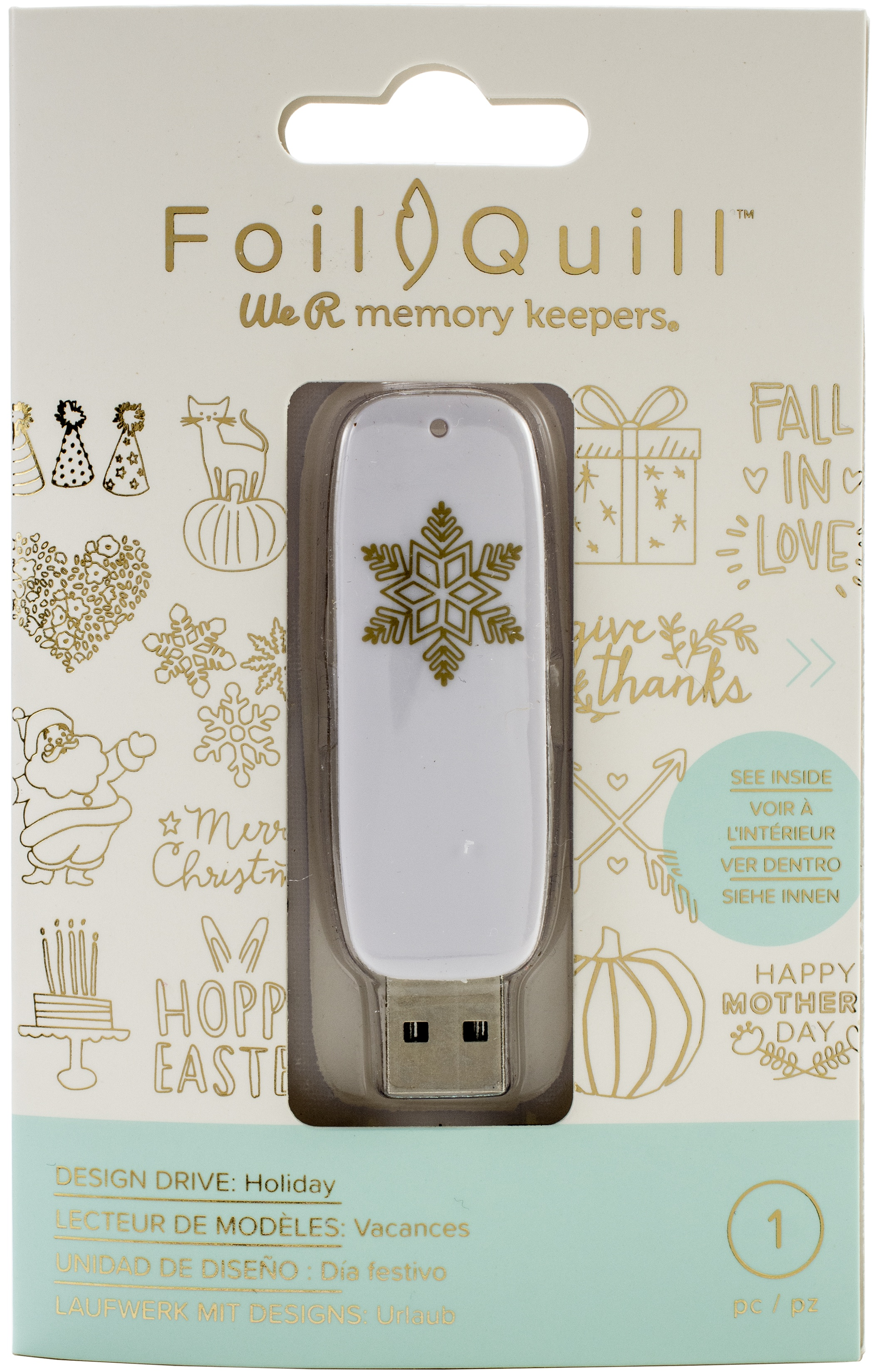 We R Memory Keepers Foil Quill USB Artwork Drive-Holiday