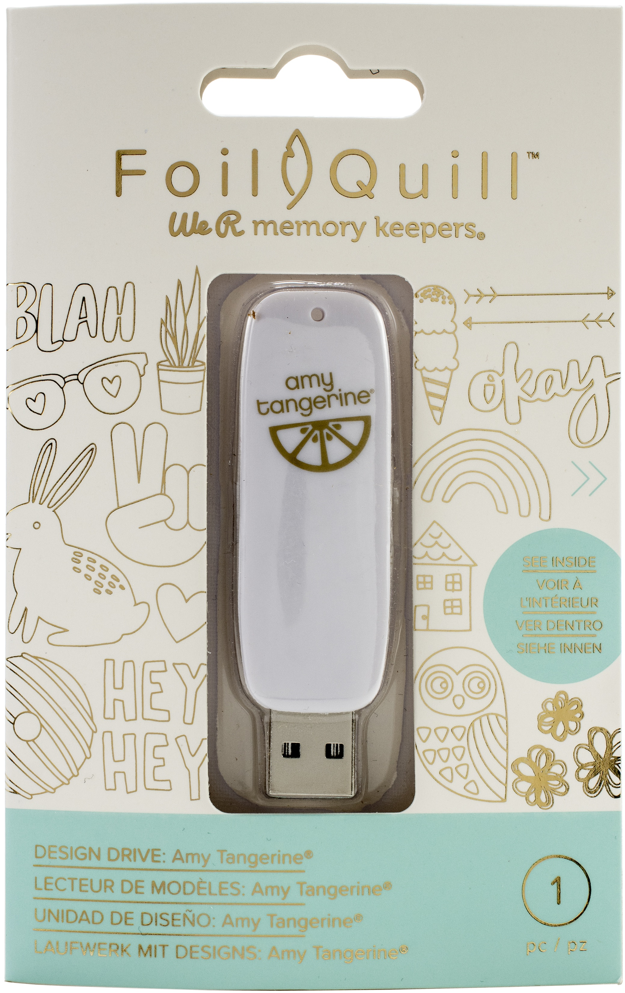 We R Memory Keepers Foil Quill USB Artwork Drive-Amy Tangerine