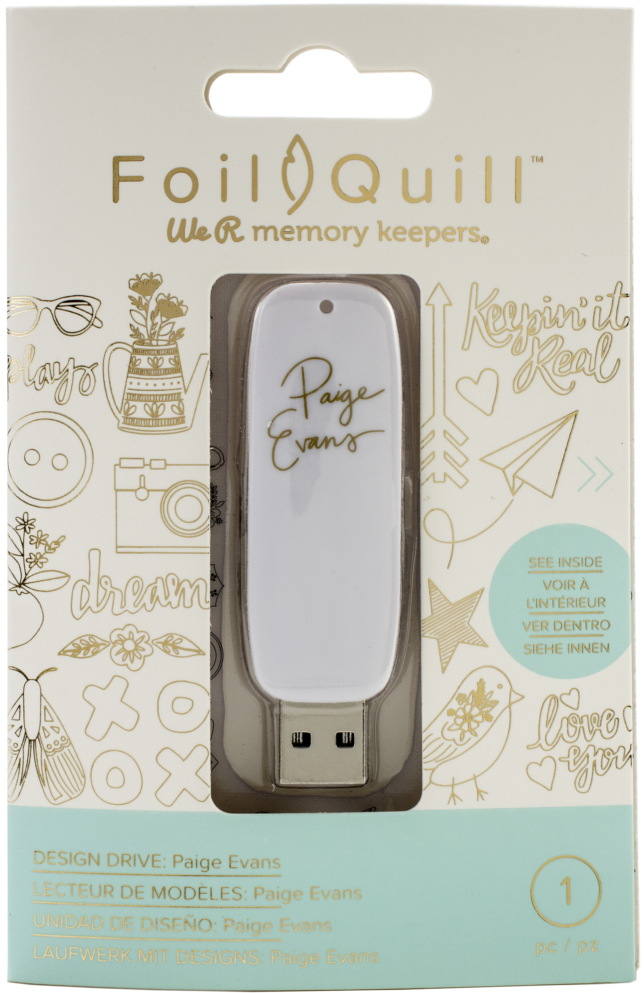 We R Memory Keepers Foil Quill USB Artwork Drive-Paige Evans