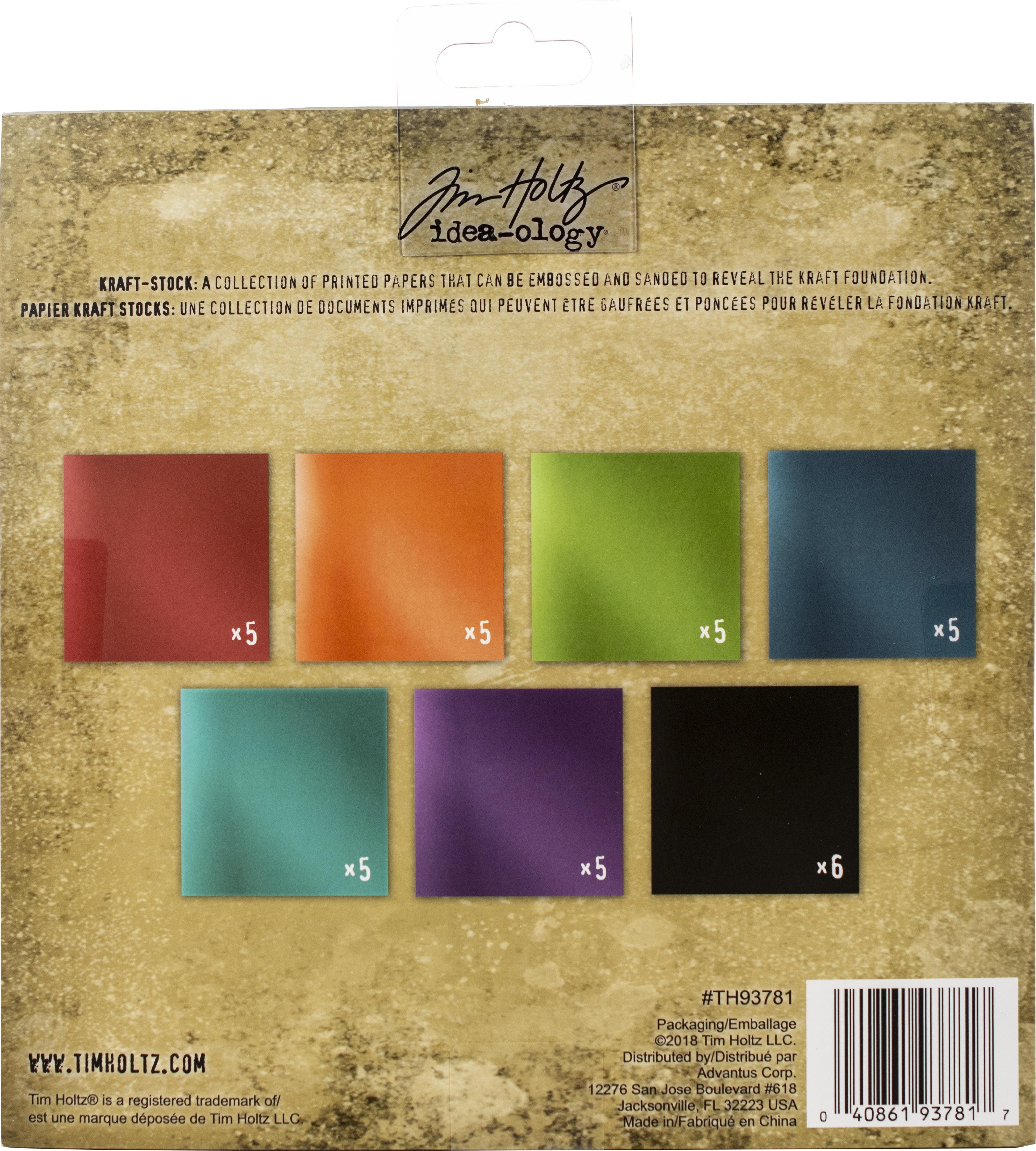 Idea-Ology Paper Stash Kraft Metallic Paper Pad 8X8 36/Pkg-Jewels