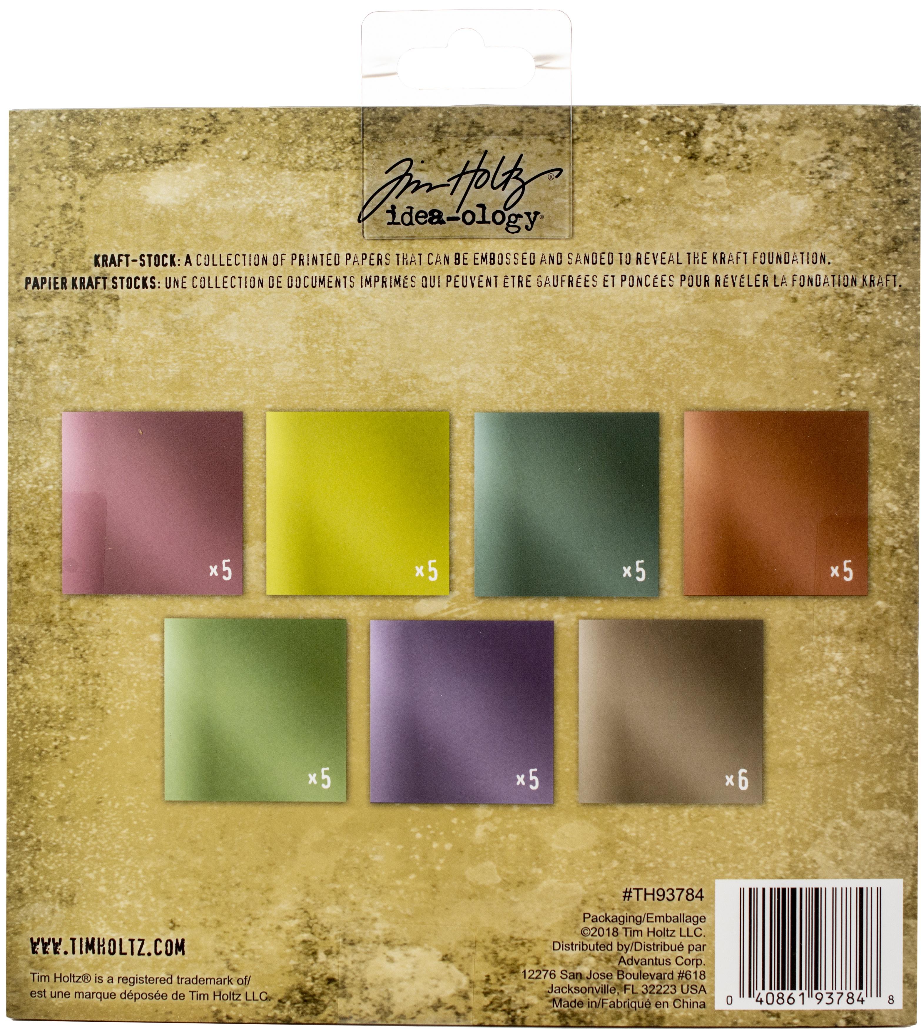 Idea-Ology Paper Stash Kraft Metallic Paper Pad 8X8 36/Pkg-Confections
