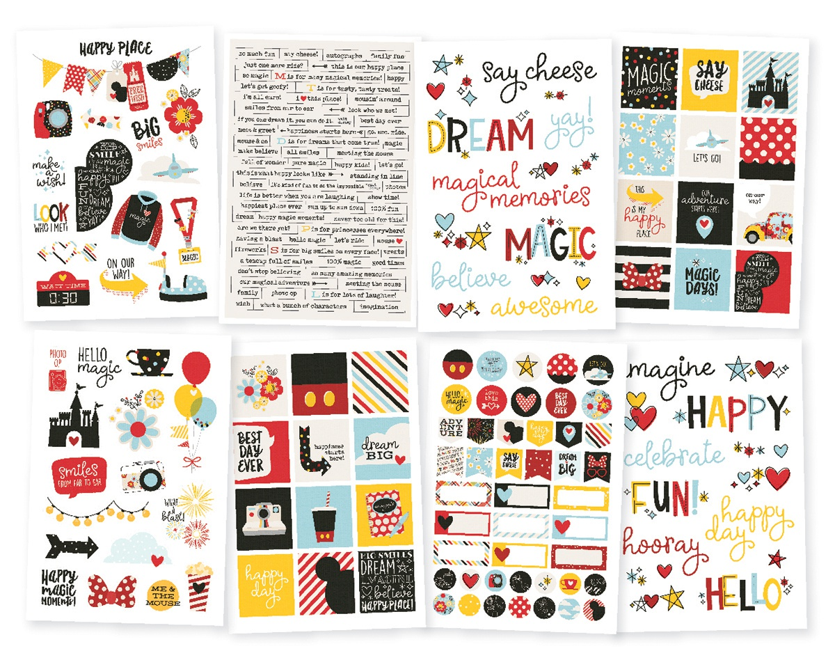 Say Cheese 4 Stickers 4X6 8/Pkg-