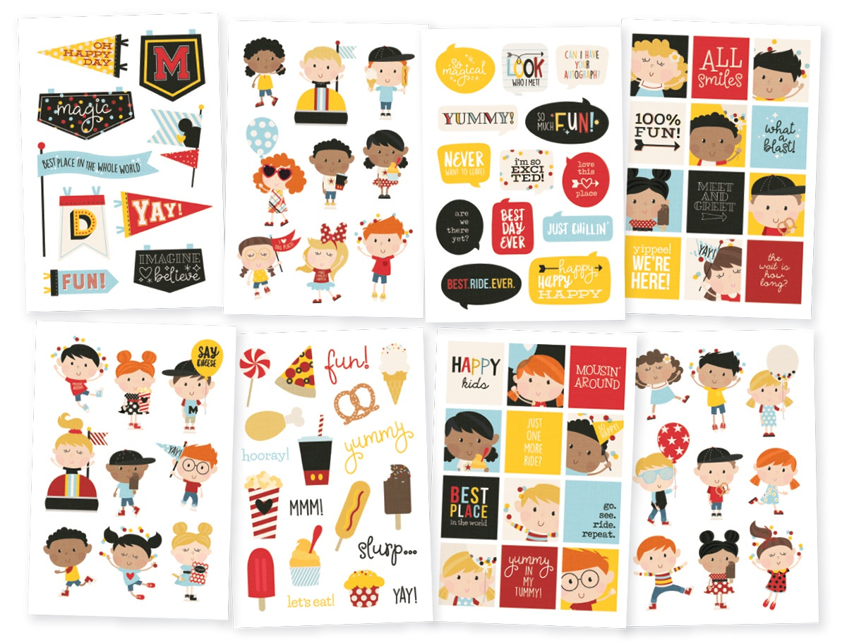 Say Cheese 4 Happy Kids Stickers 4X6 8/Pkg-