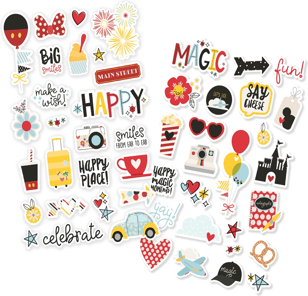 Say Cheese 4 Puffy Stickers 4X6 2/Pkg-