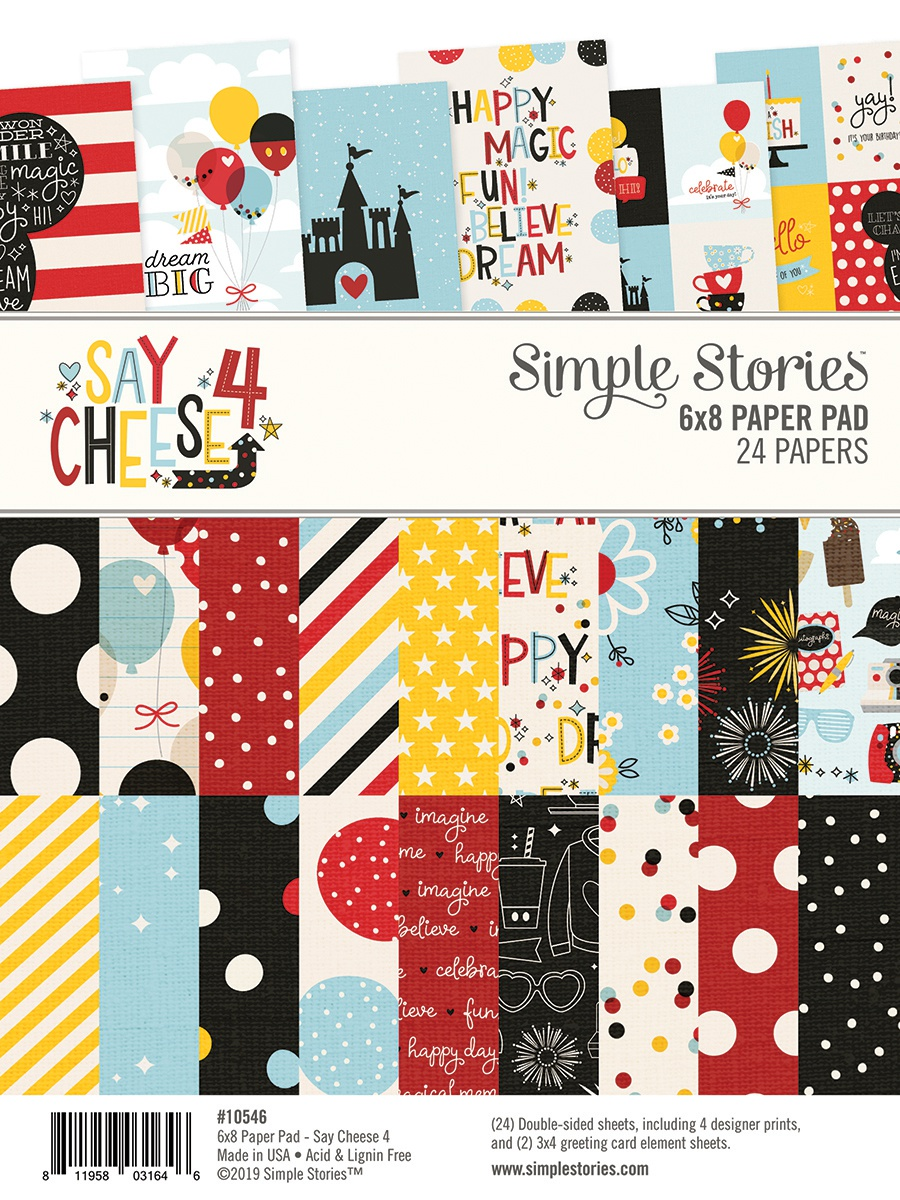 Simple Stories Double-Sided Paper Pad 6X8 24/Pkg-Say Cheese 4, 8 Designs/3 Eac...