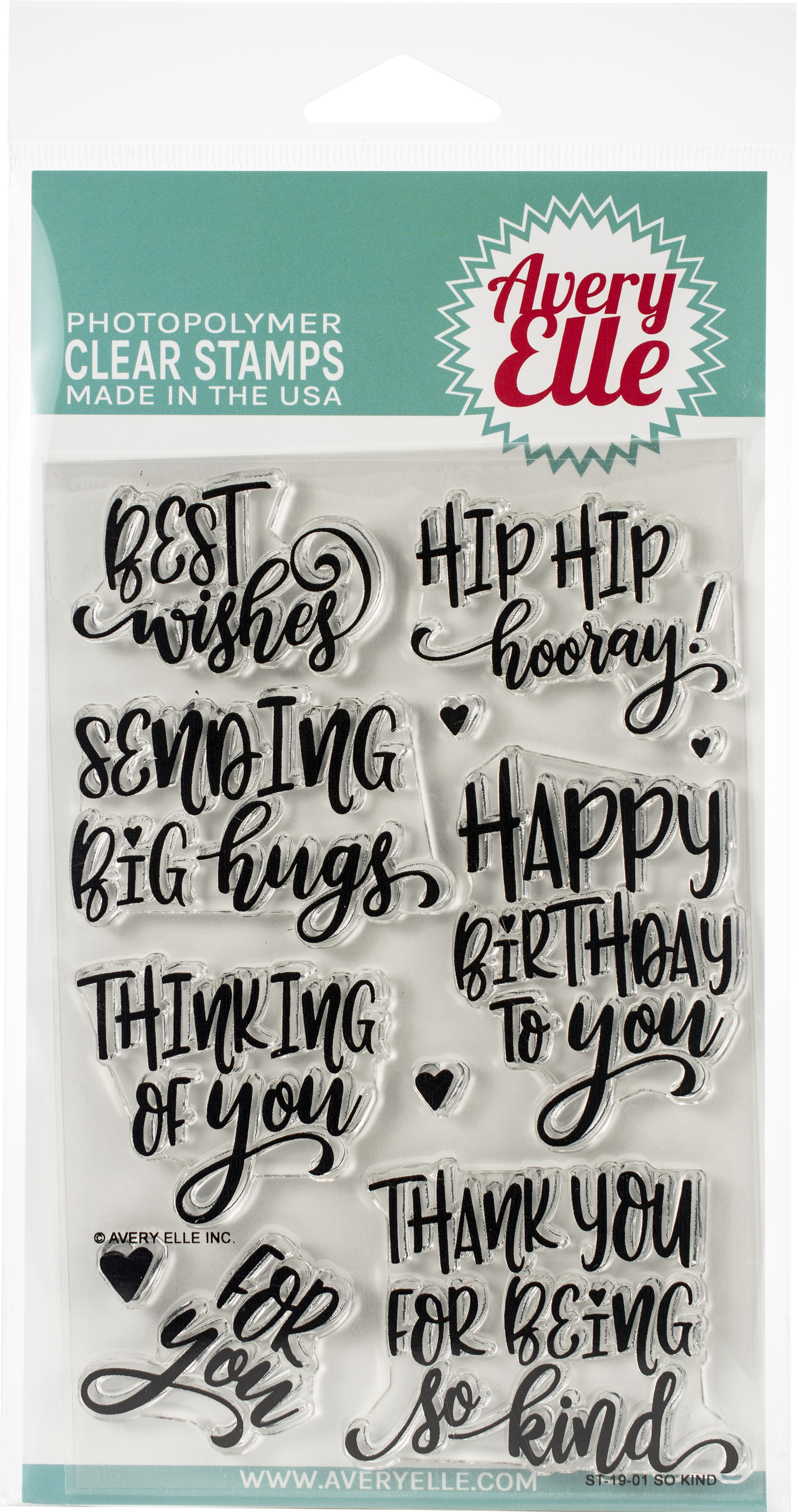 Avery Elle Clear Stamp Set 4X6-So Kind